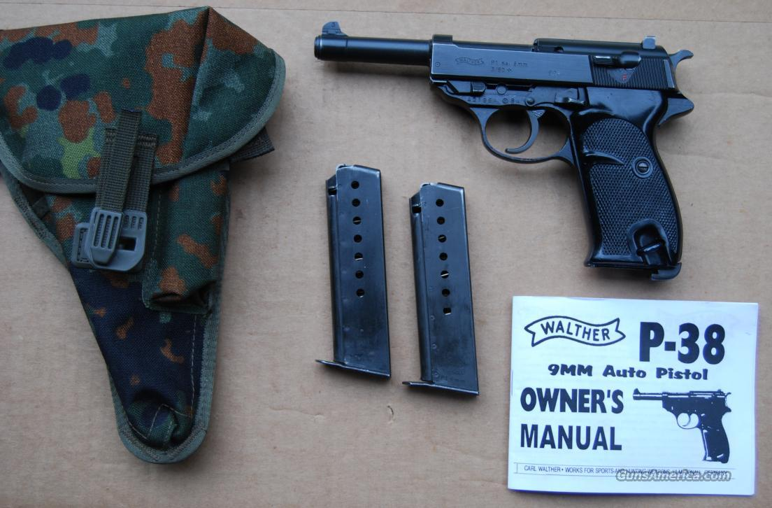 Walther P.38/P1 Pistol Cal. 9m/m  Guns > Pistols > Walther Pistols > Post WWII > Large Frame Autos