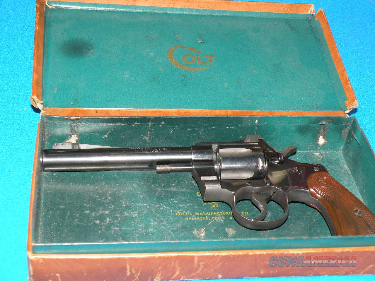"Colt Officer Model Special 22LR 6"" with box  Guns > Pistols > Colt Double Action Revolvers- Modern"