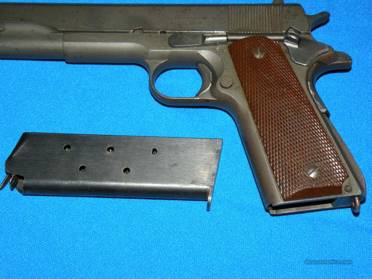 Remington Rand 1911A-1 1943  Guns > Pistols > Military Misc. Pistols US > 1911 Pattern