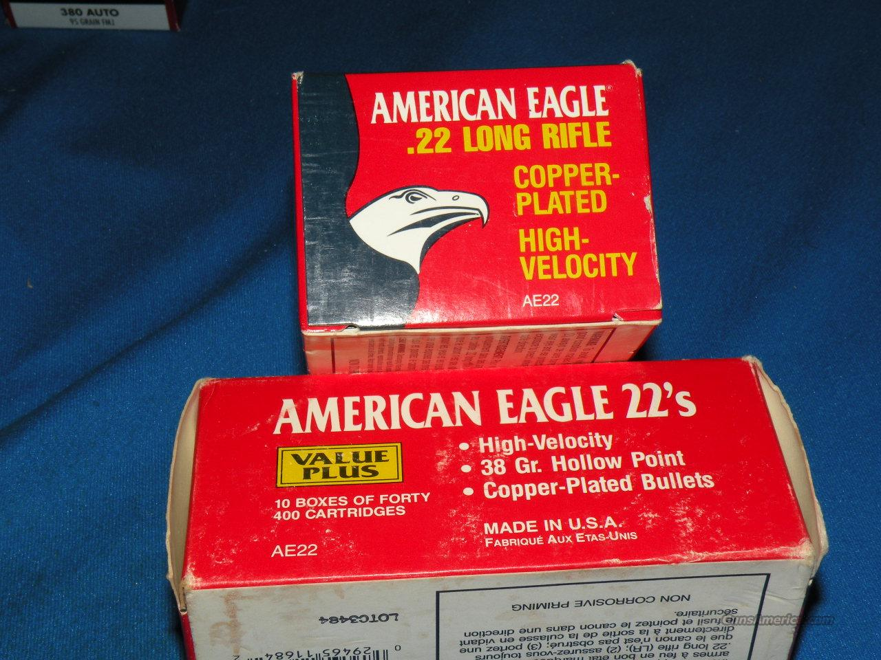 800 Rounds Americal Eagle 22 LR High Velocity  Non-Guns > Ammunition