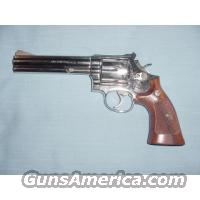 "S&W Nickel Model 586 6"" .357  Guns > Pistols > Smith & Wesson Revolvers"