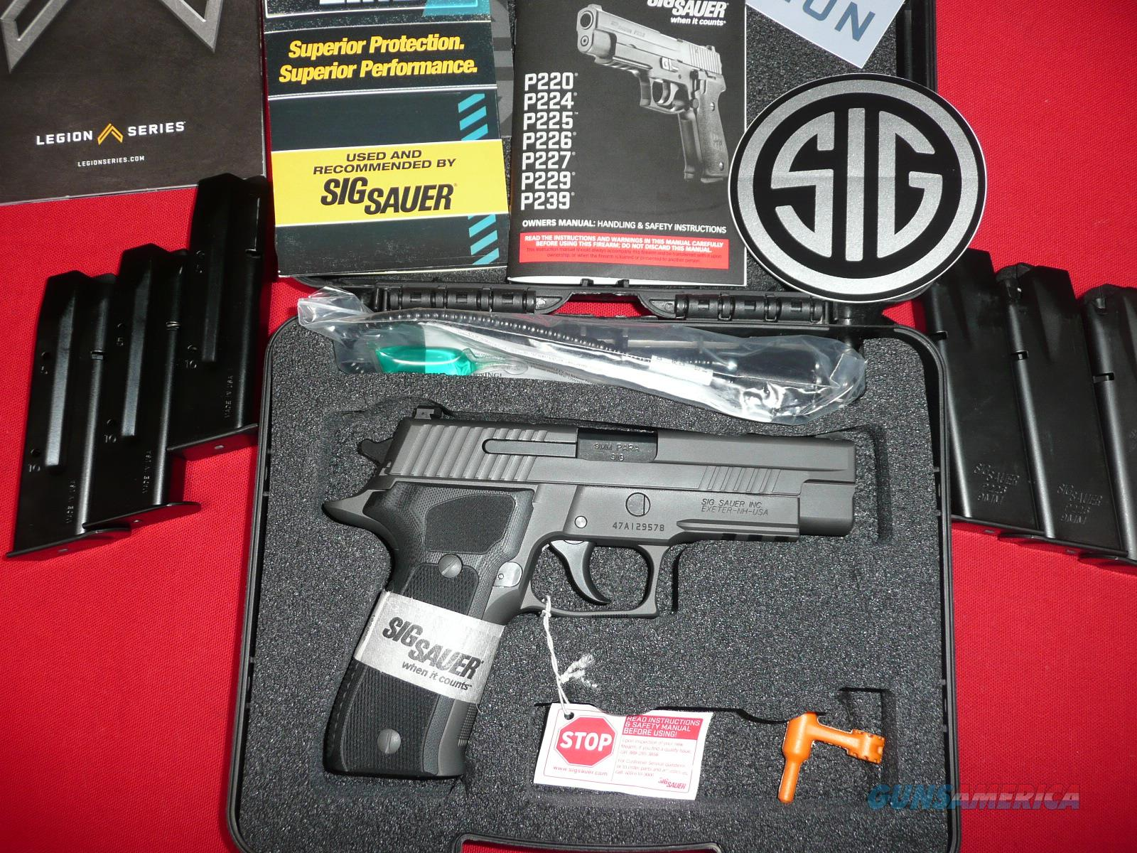 SIG SAUER  LEGION, P226R - 9MM-W/ BOX AND ALL PAPERS. EXCEPTIONAL ITEM.    Guns > Pistols > Sig - Sauer/Sigarms Pistols > P226