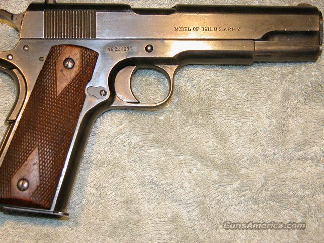 COLT PRE WW1 M1911 PISTOL del 1/2/1918 for sale M1911 Pistol Ww1