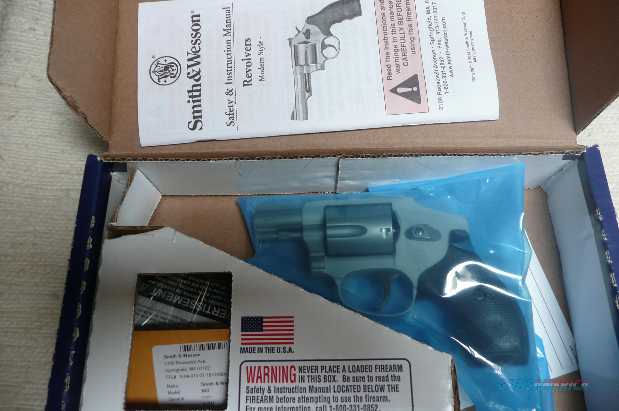 S&W  model 442  Lightweight  5 rd  Stainless steel   NIB  Guns > Pistols > Smith & Wesson Revolvers > Small Frame ( J )