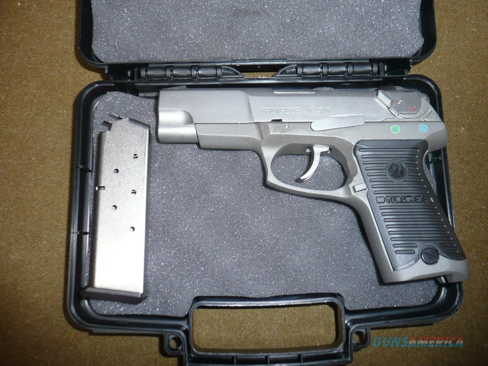 RUGER P90 DC  45ACP New,  no  factory box gun is UNFIRED  Guns > Pistols > Ruger Semi-Auto Pistols > P-Series