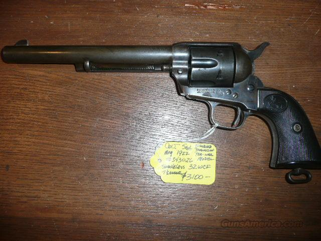 COLT SAA 32WCF. STANDARD PRODUCTION PRE-WAR MODEL  Guns > Pistols > Colt Single Action Revolvers - 1st Gen.