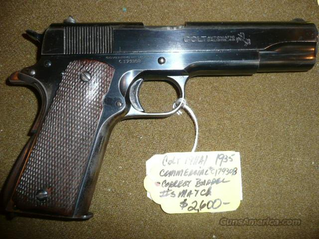 COLT COMMERCIAL 1911 1935 MFG. ALL MATCHING  Guns > Pistols > Colt Automatic Pistols (1911 & Var)