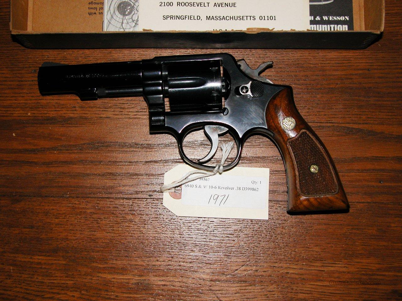 S&W M10-6  38 SPECIAL   1971  Guns > Pistols > Smith & Wesson Revolvers > Full Frame Revolver