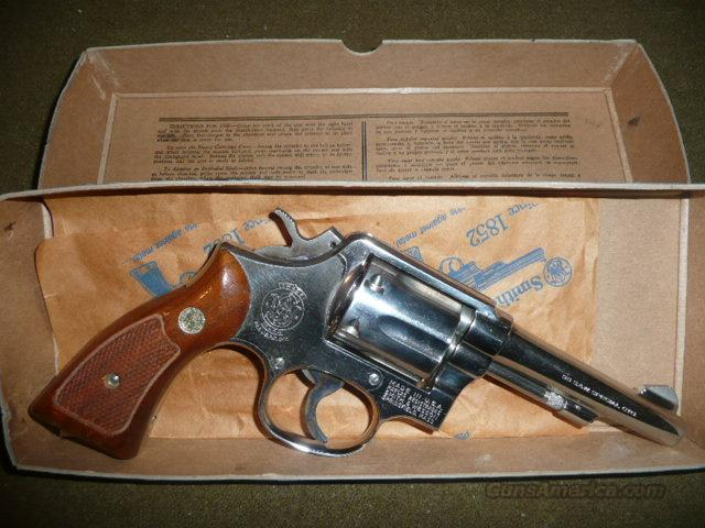 S&W model 10-5  1977  NICKEL  Guns > Pistols > Smith & Wesson Revolvers > Model 10