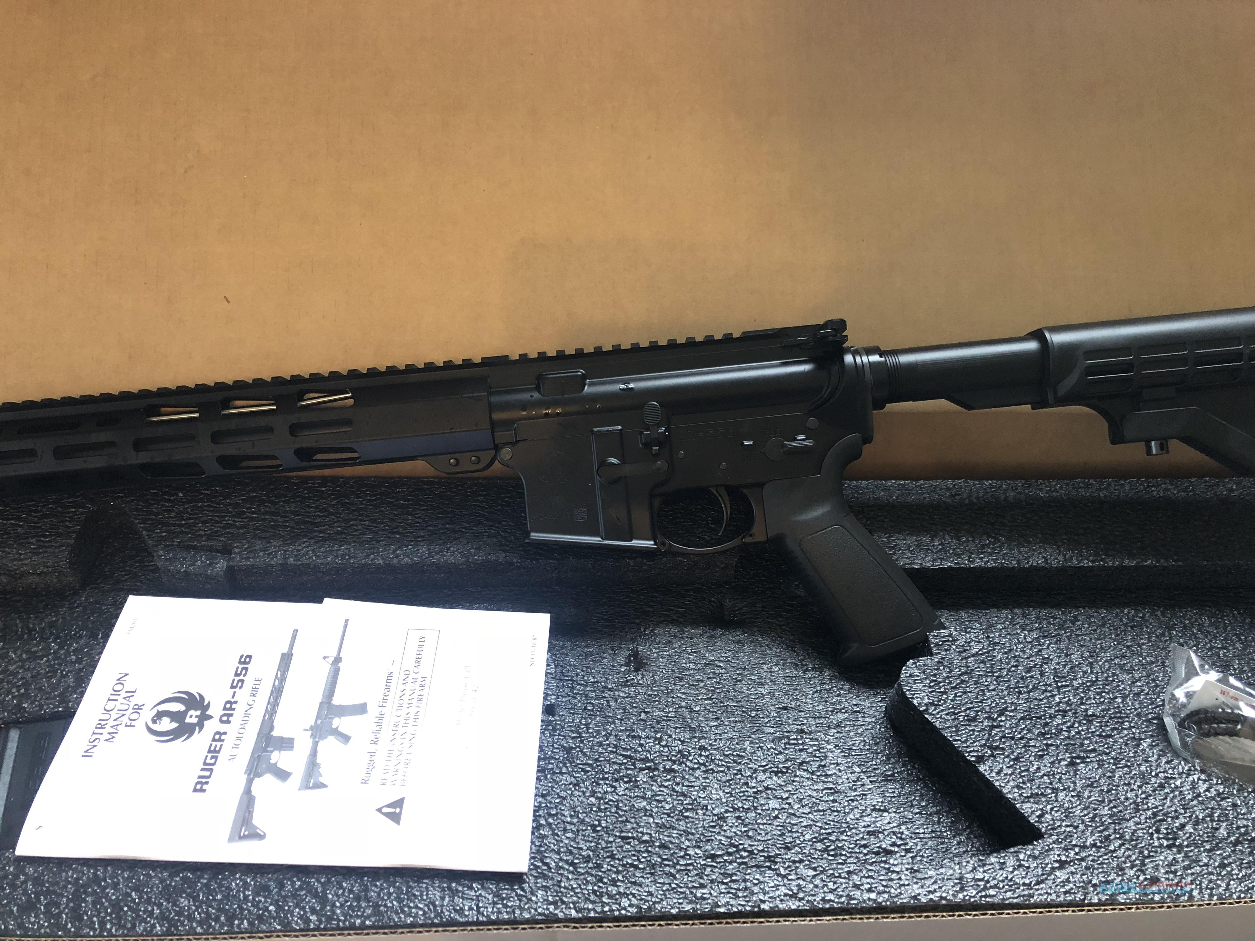 Ruger AR556 - 5.56mm/223 ** SHIPS FREE ** With M-lock Forend * Catalog Number 8529  Guns > Rifles > Ruger Rifles > AR Series