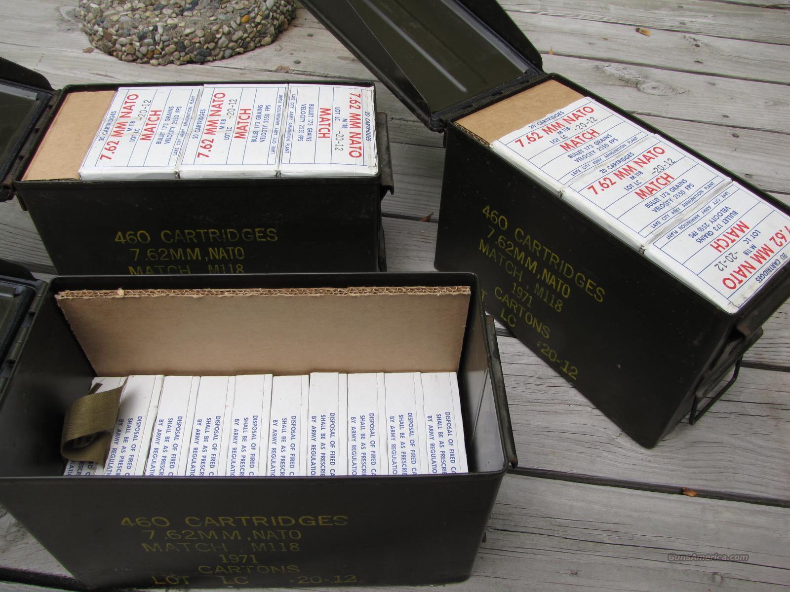 Lake City Match M118 7.62x51 NATO Vietnam era sniper ammo   Non-Guns > Ammunition
