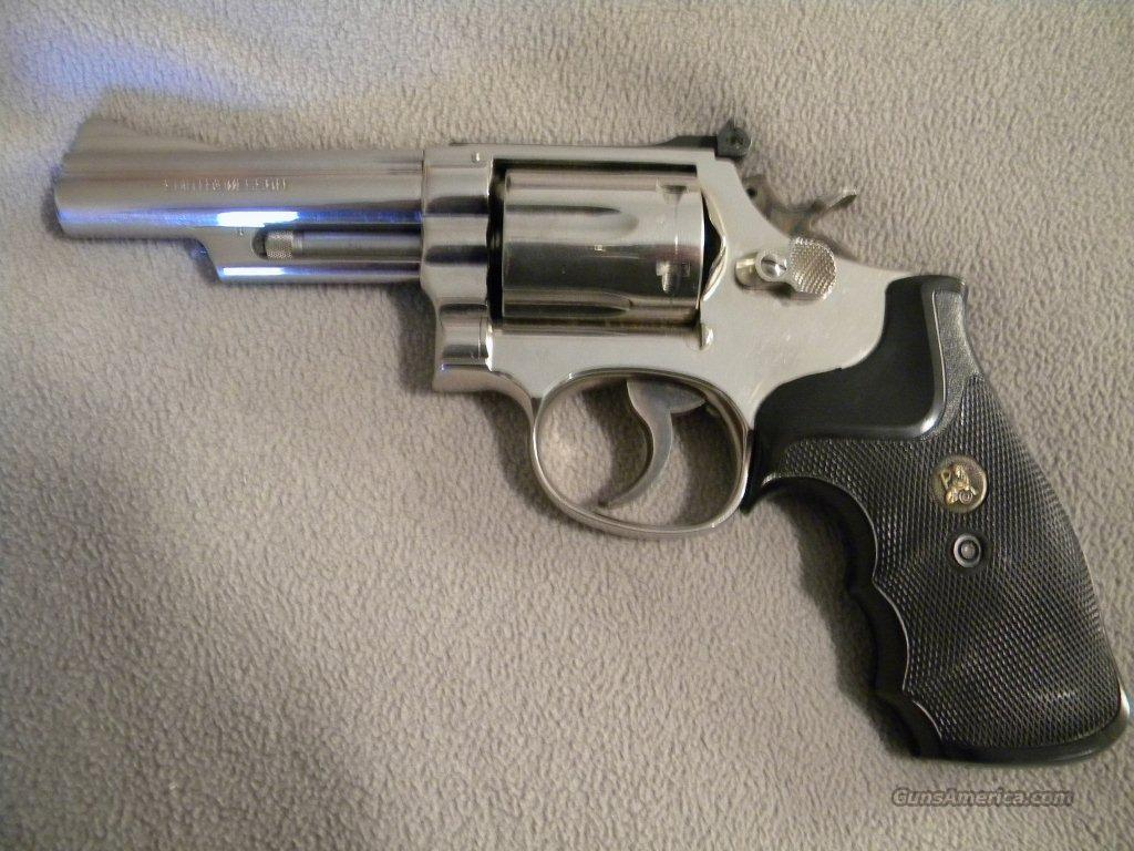 "S&W Mod-19 4"" bbl Nickel  Guns > Pistols > Smith & Wesson Revolvers > Full Frame Revolver"