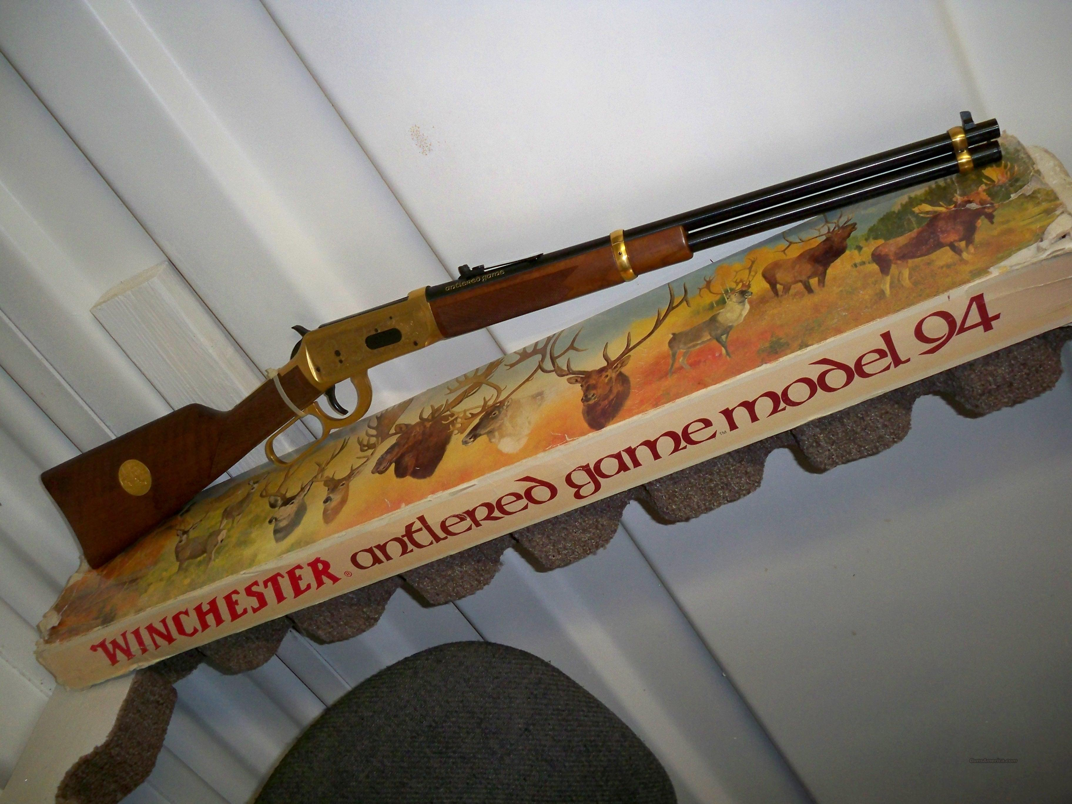 WINCHESTER 94 ANTLERED GAME  Guns > Rifles > Winchester Rifle Commemoratives