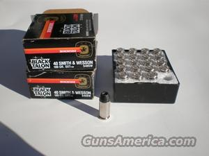 "Winchester 180 gr. ""Black Talon"" .40 S&W   Non-Guns > Ammunition"
