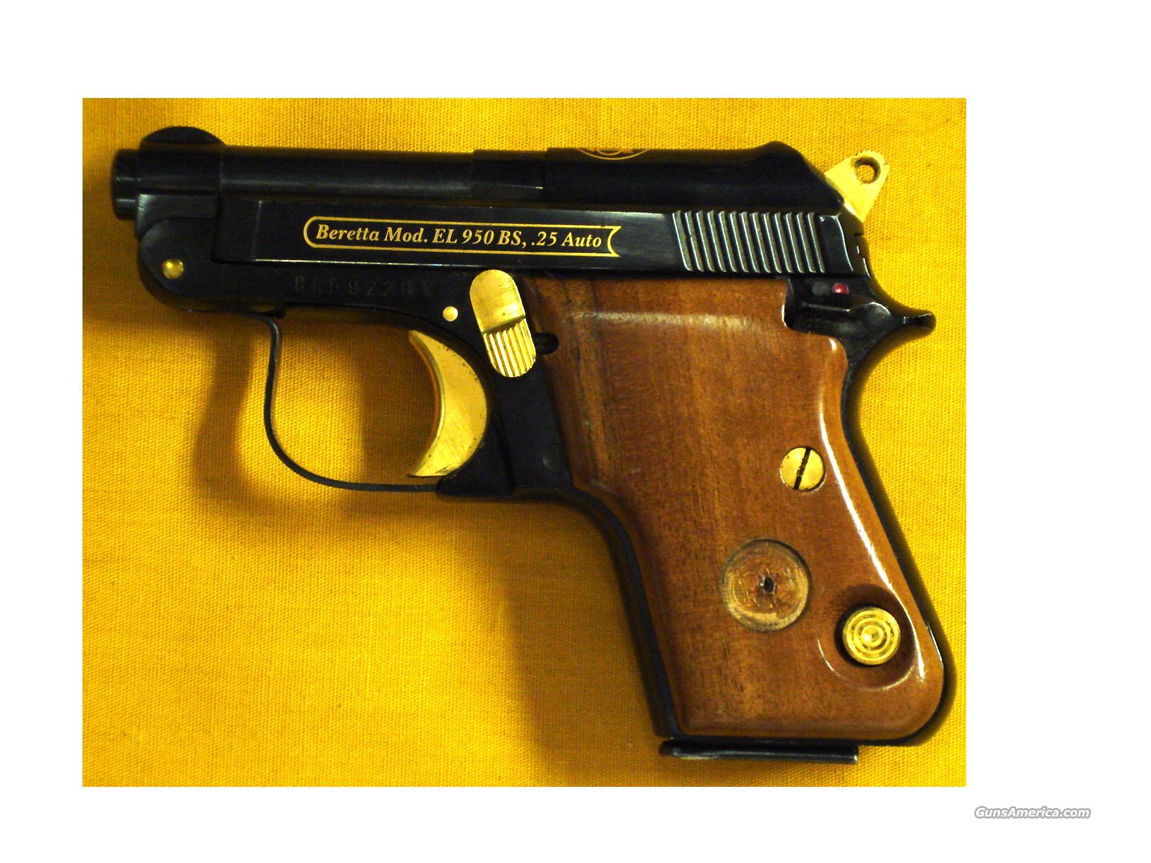 "BERETTA EL 950 BS .25ACP 2""BARREL  Guns > Pistols > Beretta Pistols > Small Caliber Tip Out"