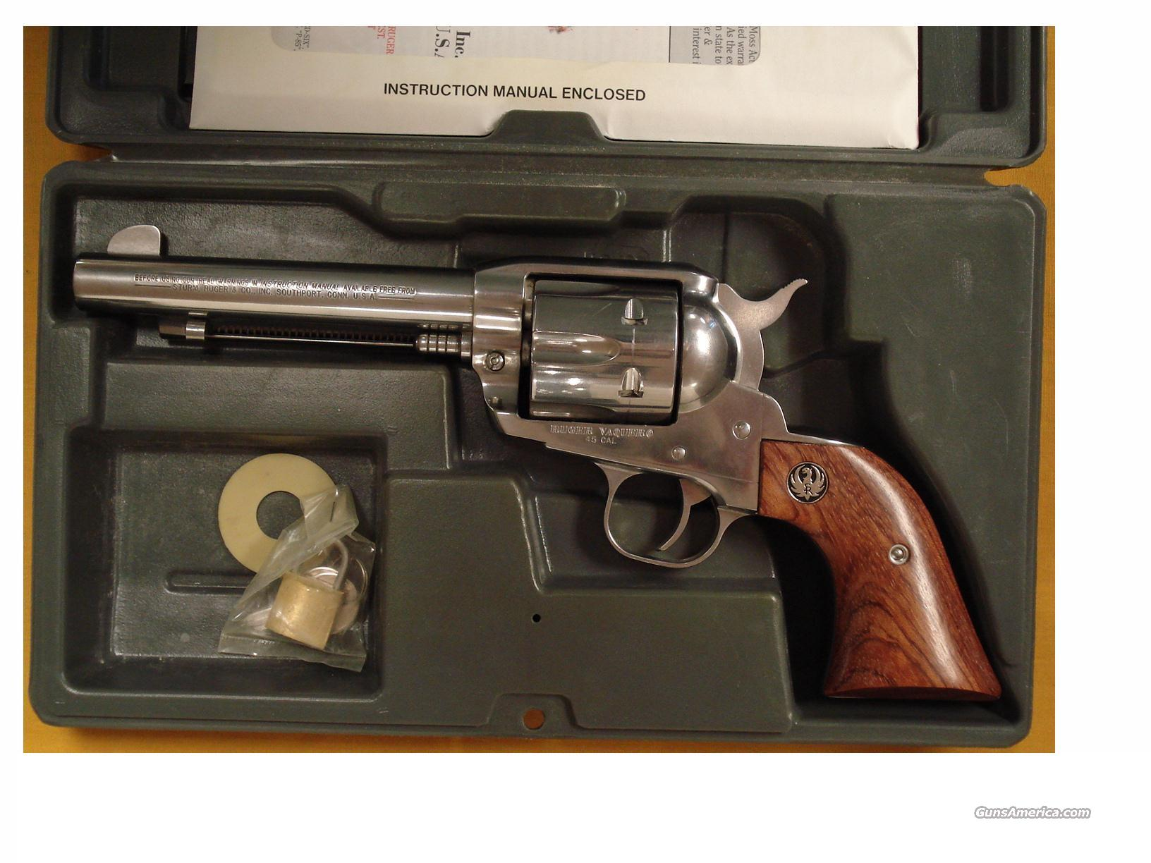"RUGER VAQUERO .45 COLT 5 1/2"" BBL  Guns > Pistols > Ruger Single Action Revolvers > Single Six Type"