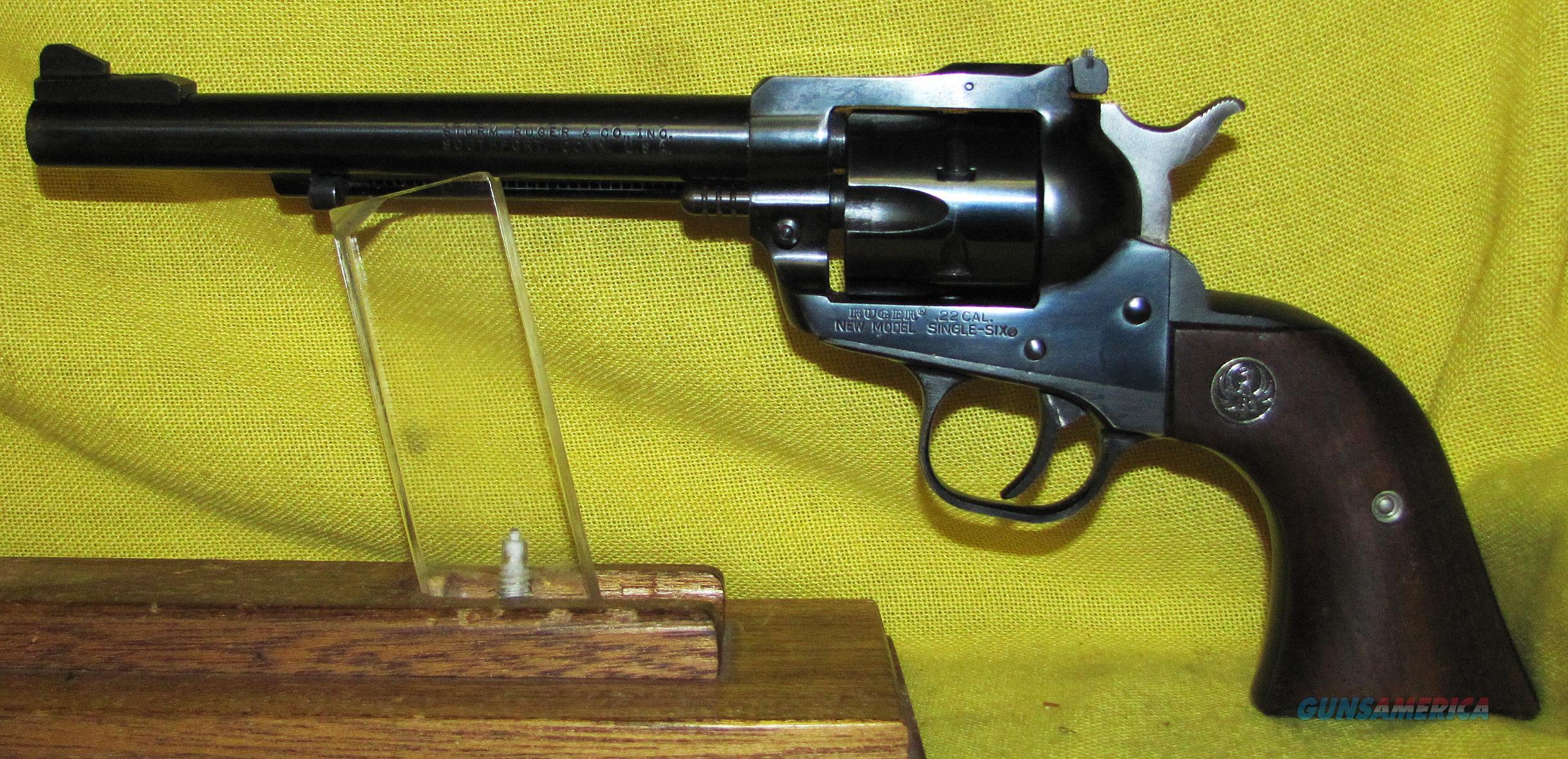 RUGER SINGLE SIX (PRE-WARNING)  Guns > Pistols > Ruger Single Action Revolvers > Single Six Type