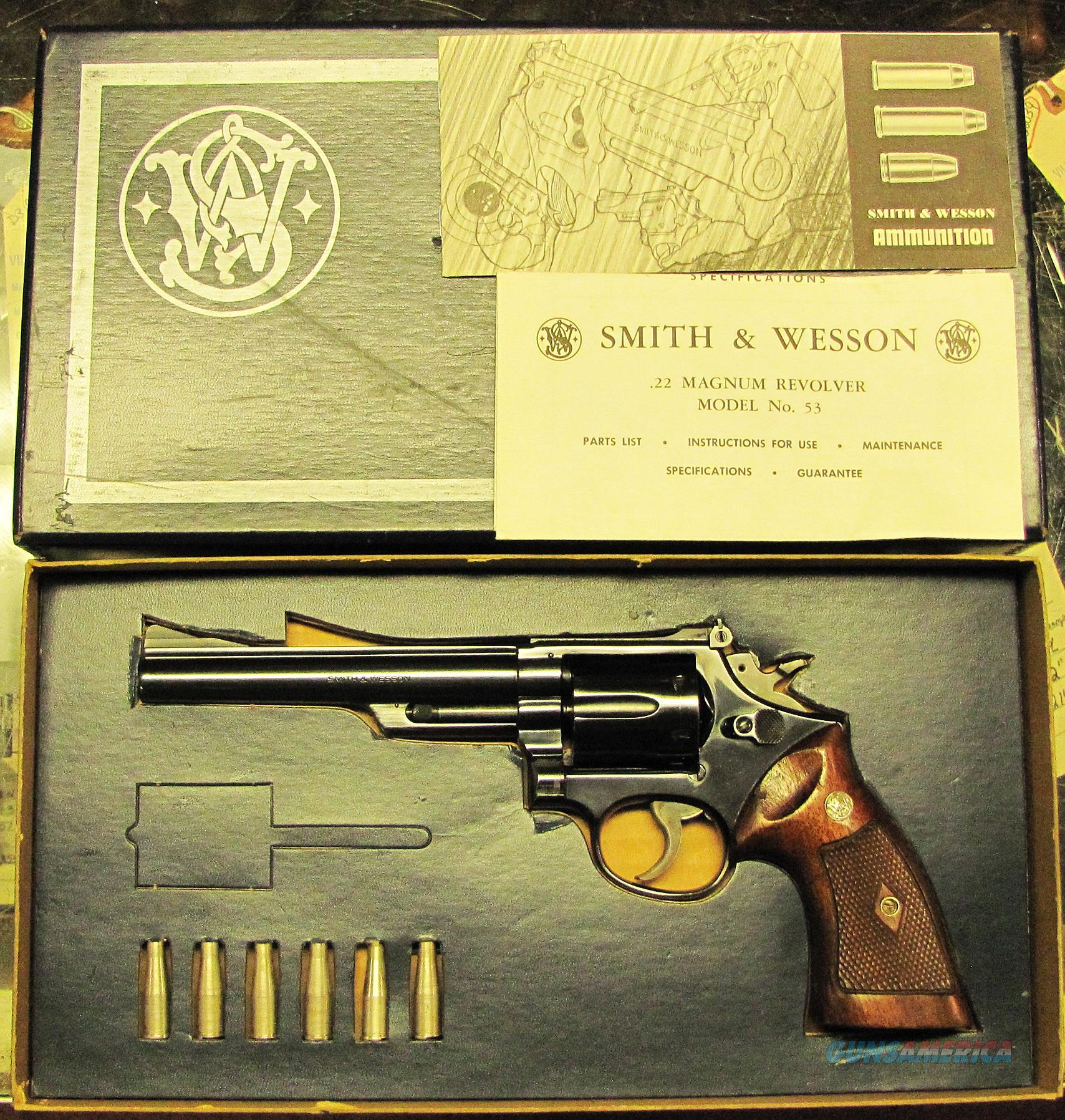 S&W 53  Guns > Pistols > Smith & Wesson Revolvers > Med. Frame ( K/L )