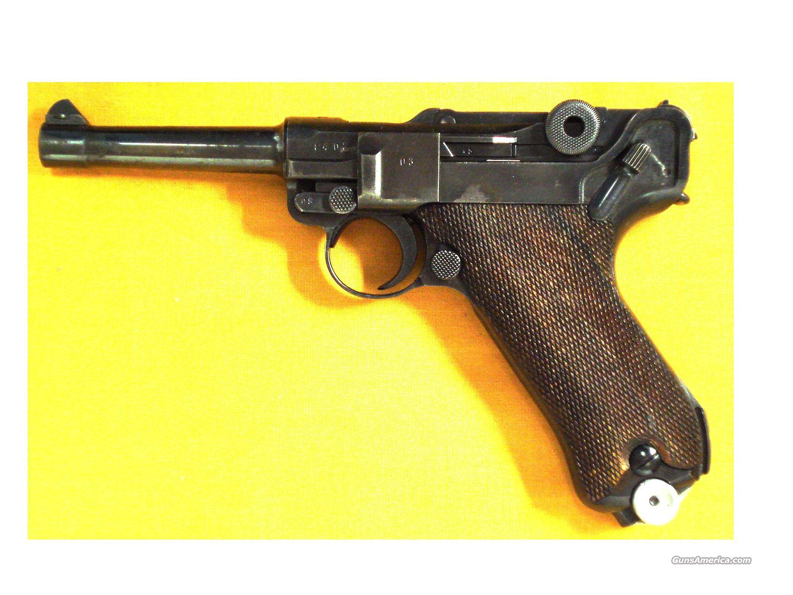 "LUGER PO8 S42 1937 WWII 9MM 4""BBL  Guns > Pistols > Military Misc. Pistols Non-US"