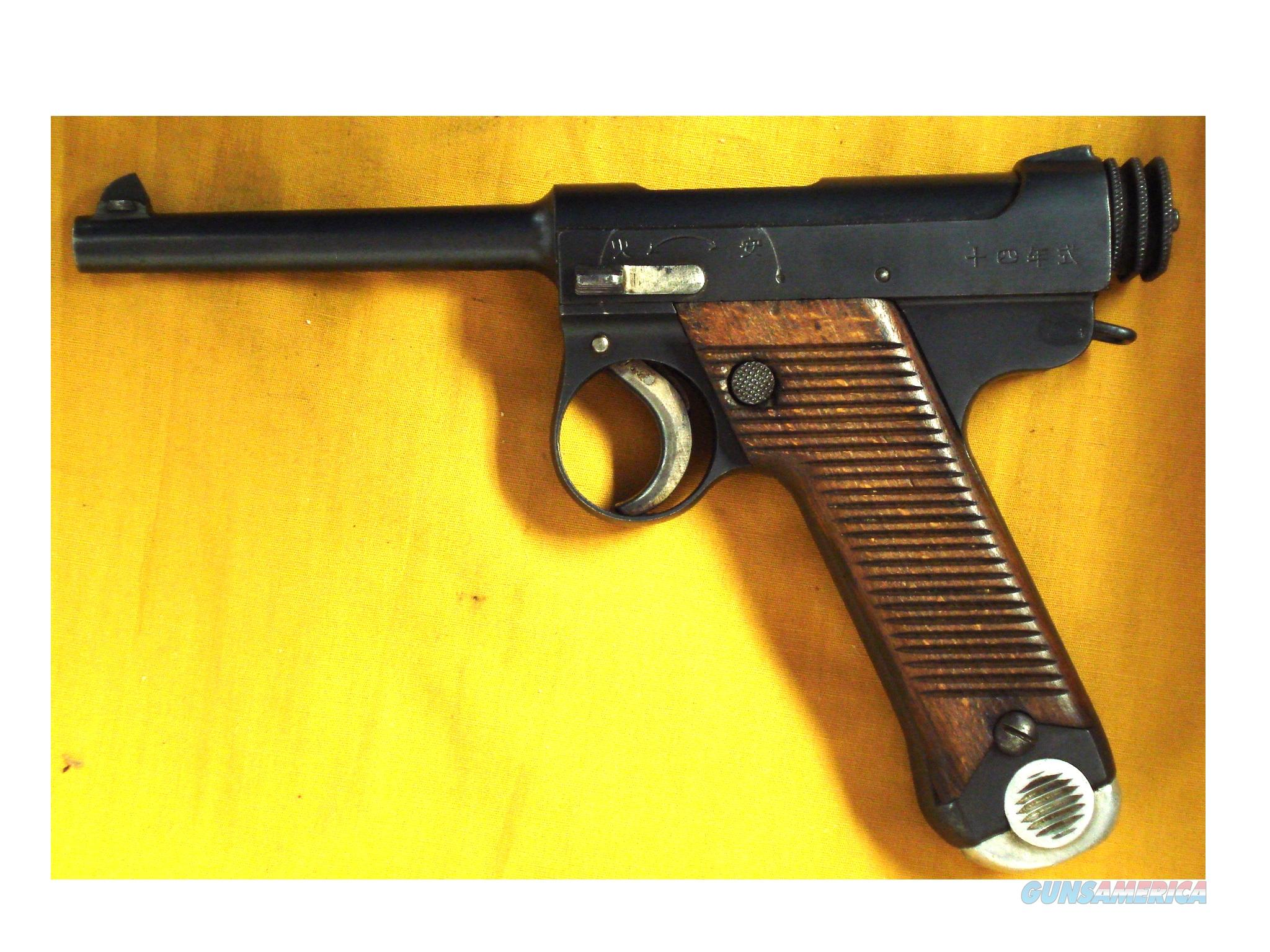 "JAPANESE NAMBU TYPE 14 8MM NAMBU 4.75""BBL  Guns > Pistols > Military Misc. Pistols Non-US"