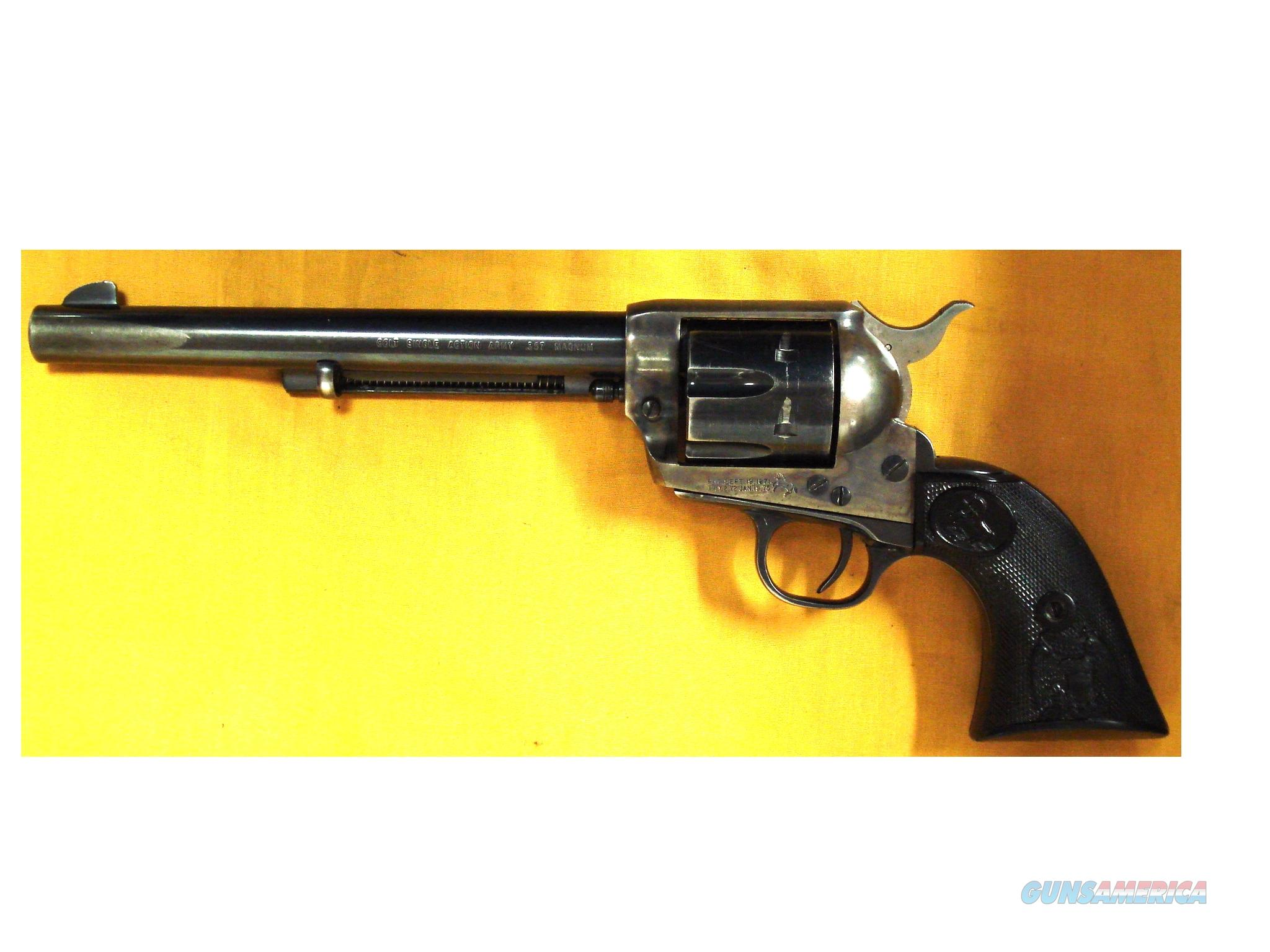 "COLT SAA .357MAG 7 1/2"" BBL (55)) SN 61604SA  Guns > Pistols > Colt Single Action Revolvers - 2nd Gen."