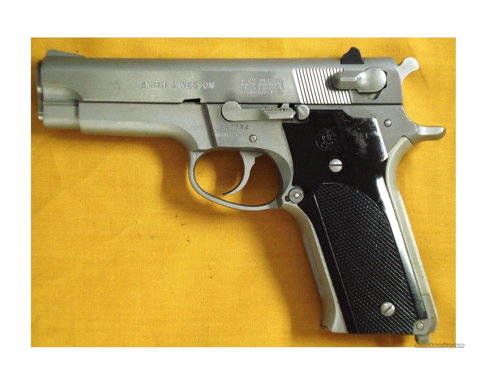 "S&W 659 9MM 4"" BARREL STAINLESS  Guns > Pistols > Smith & Wesson Pistols - Autos > Steel Frame"
