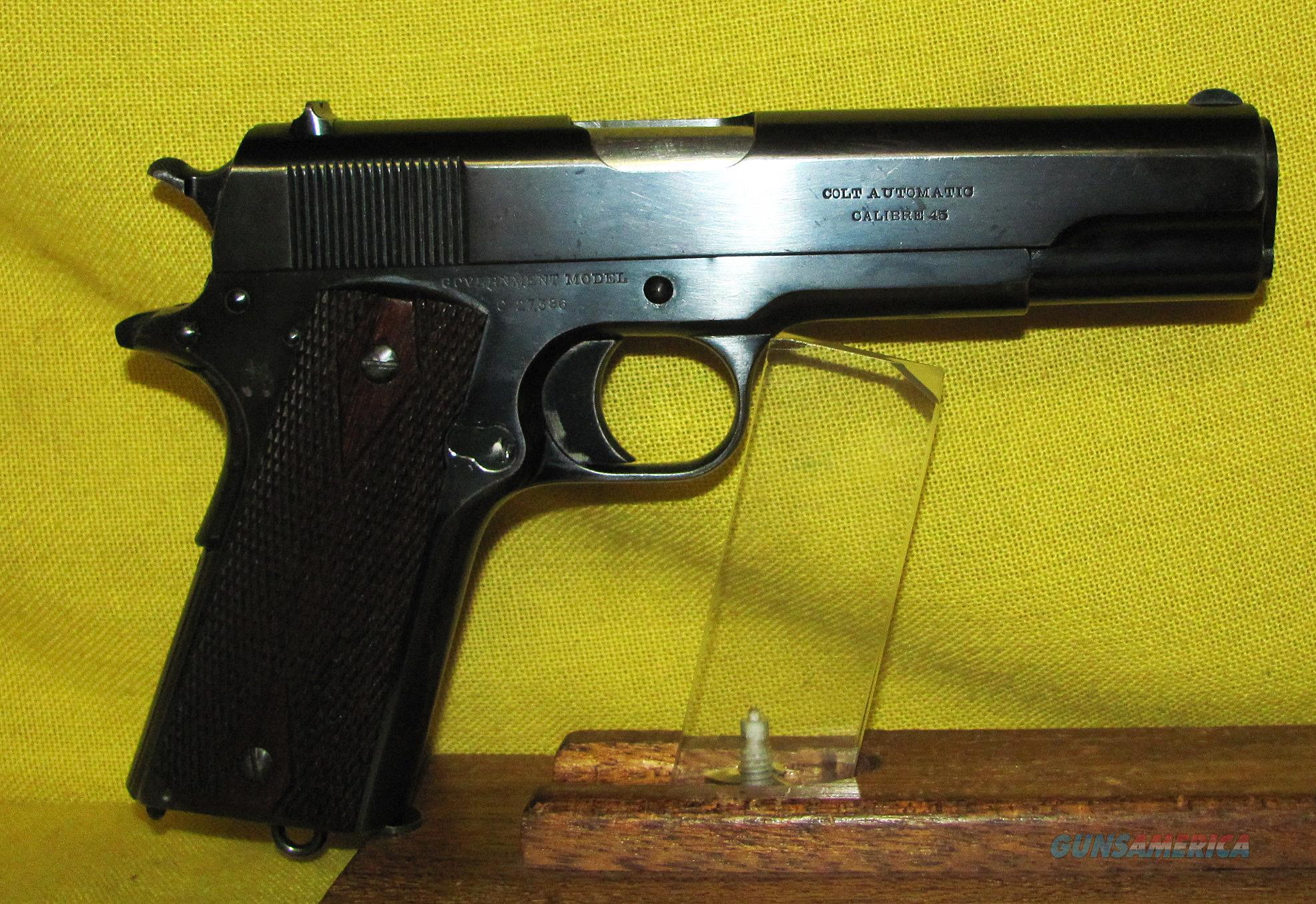 COLT GOVERNMENT COMMERCIAL MODEL 1911  Guns > Pistols > Colt Automatic Pistols (1911 & Var)