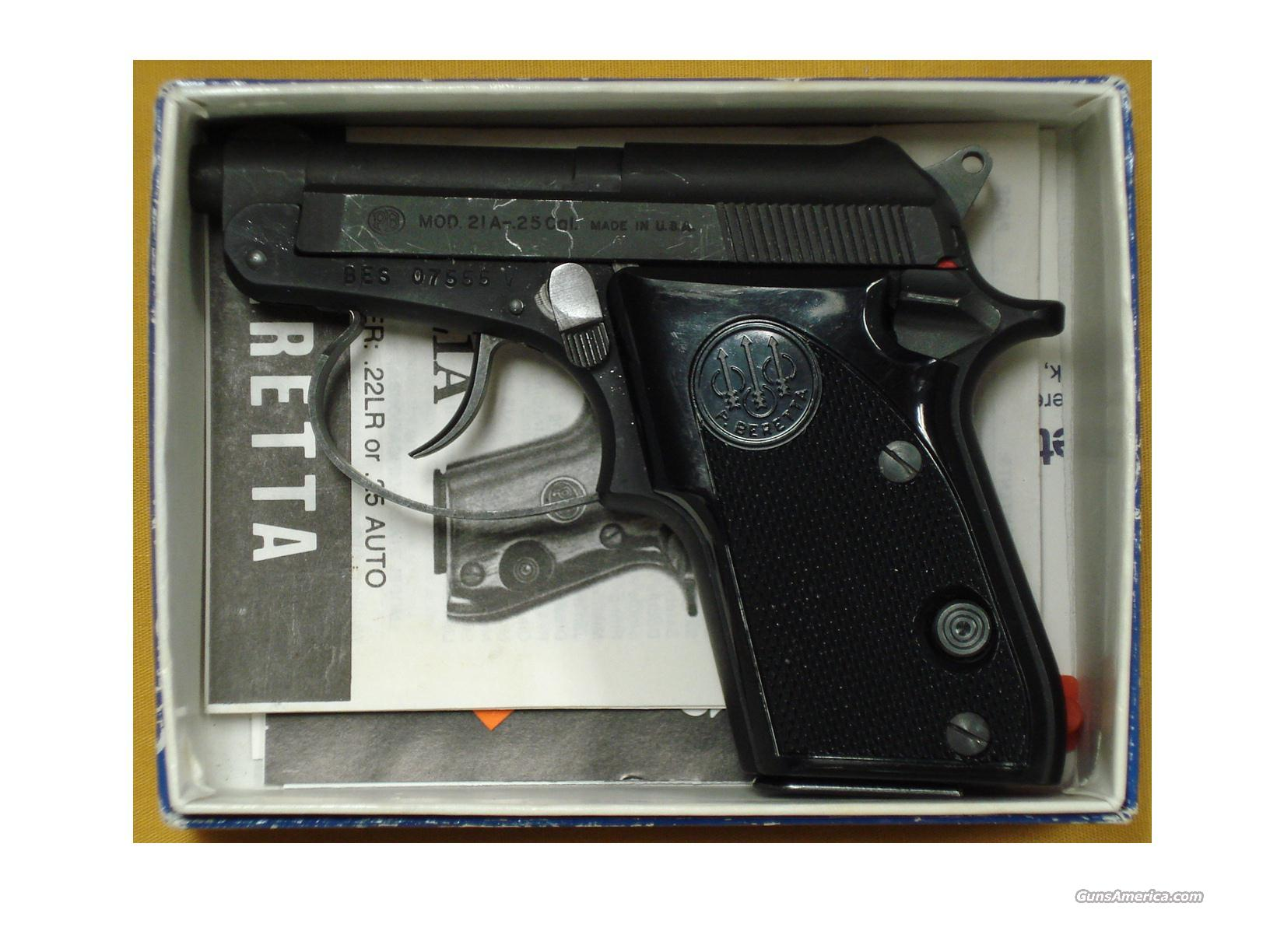 "BERETTA 21A .25 ACP 2 1/2"" BBL TIP UP  Guns > Pistols > Beretta Pistols > Small Caliber Tip Out"