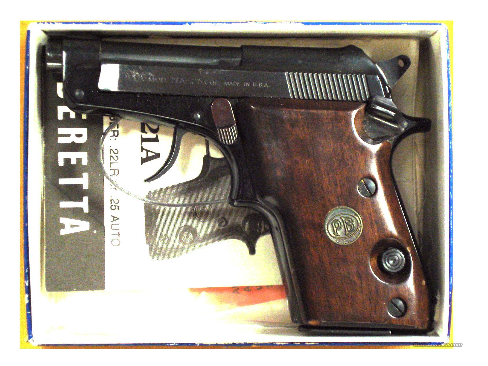 "BERETTA 21A .25ACP 2 1/2"" TIP UP BBL   Guns > Pistols > Beretta Pistols > Small Caliber Tip Out"