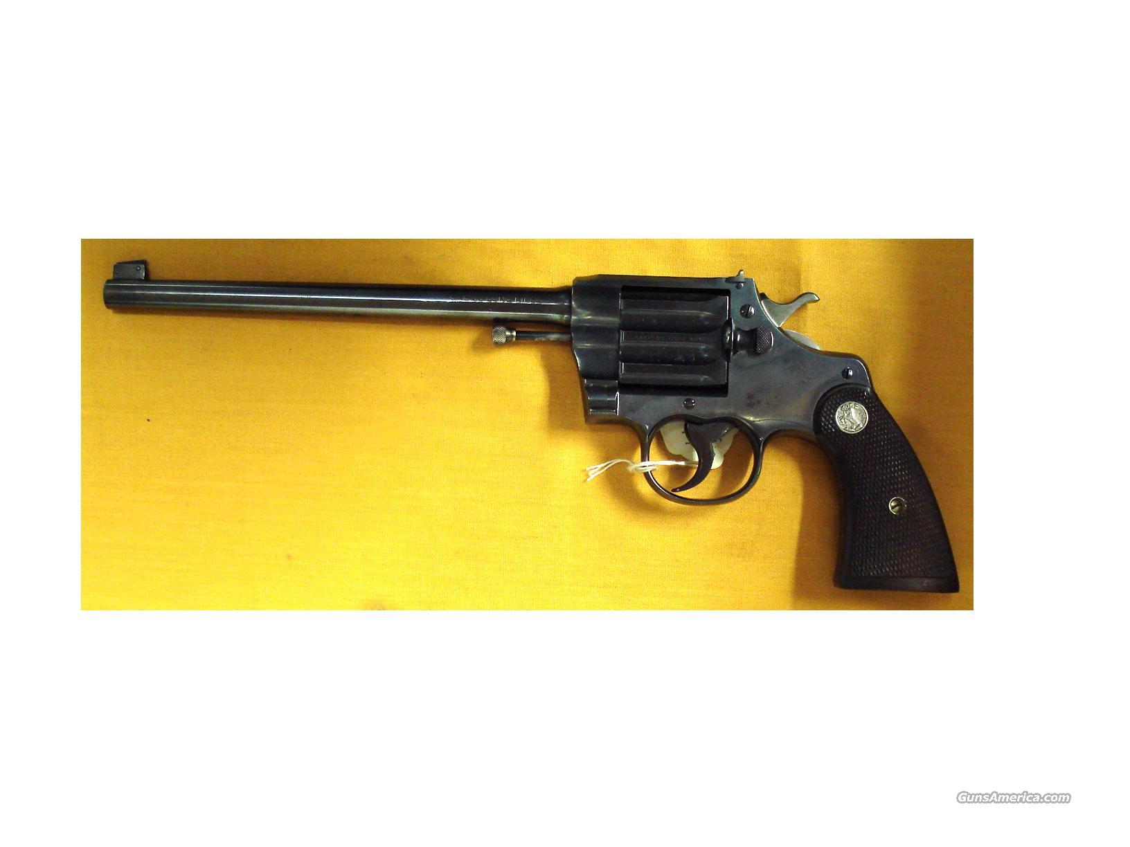 "COLT CAMP PERRY .22LR 10"" BBL   Guns > Pistols > Colt Double Action Revolvers- Modern"