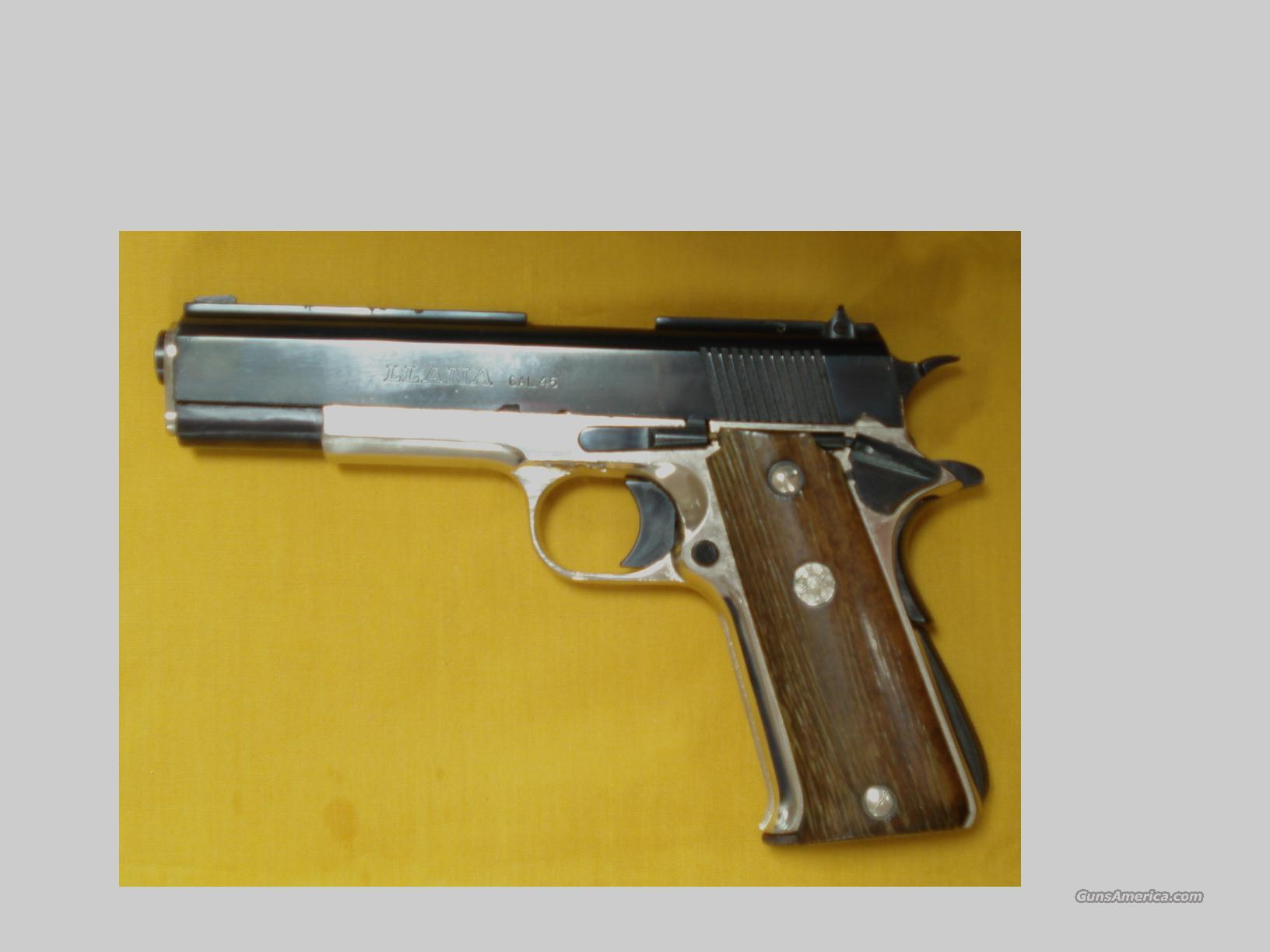 "LLAMA TWO TONE 1911 GOVERNMENT .45ACP 5""BARREL  Guns > Pistols > Llama Pistols"