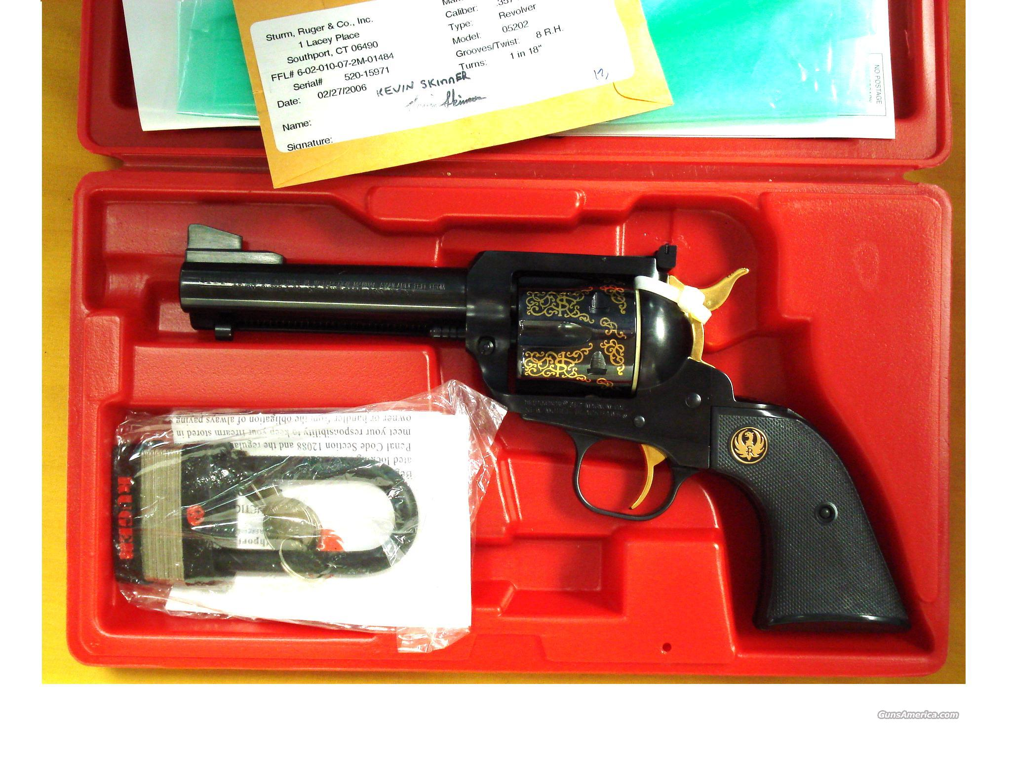 RUGER N.M. BLACKHAWK 50TH ANIV.  Guns > Pistols > Ruger Single Action Revolvers > Blackhawk Type