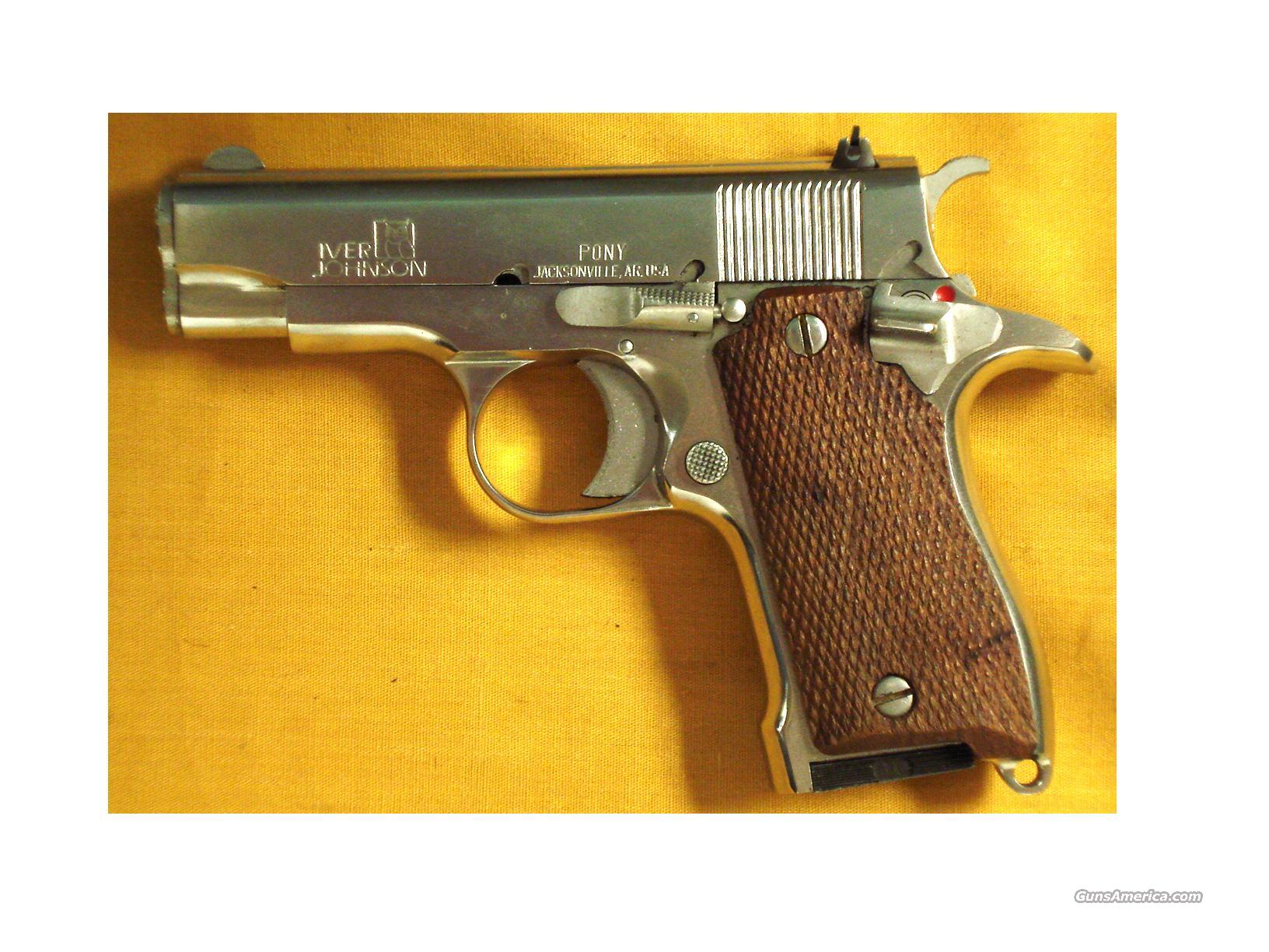 "IVER JOHNSON PONY .380 3 1/2"" BBL  Guns > Pistols > Iver Johnson Pistols"