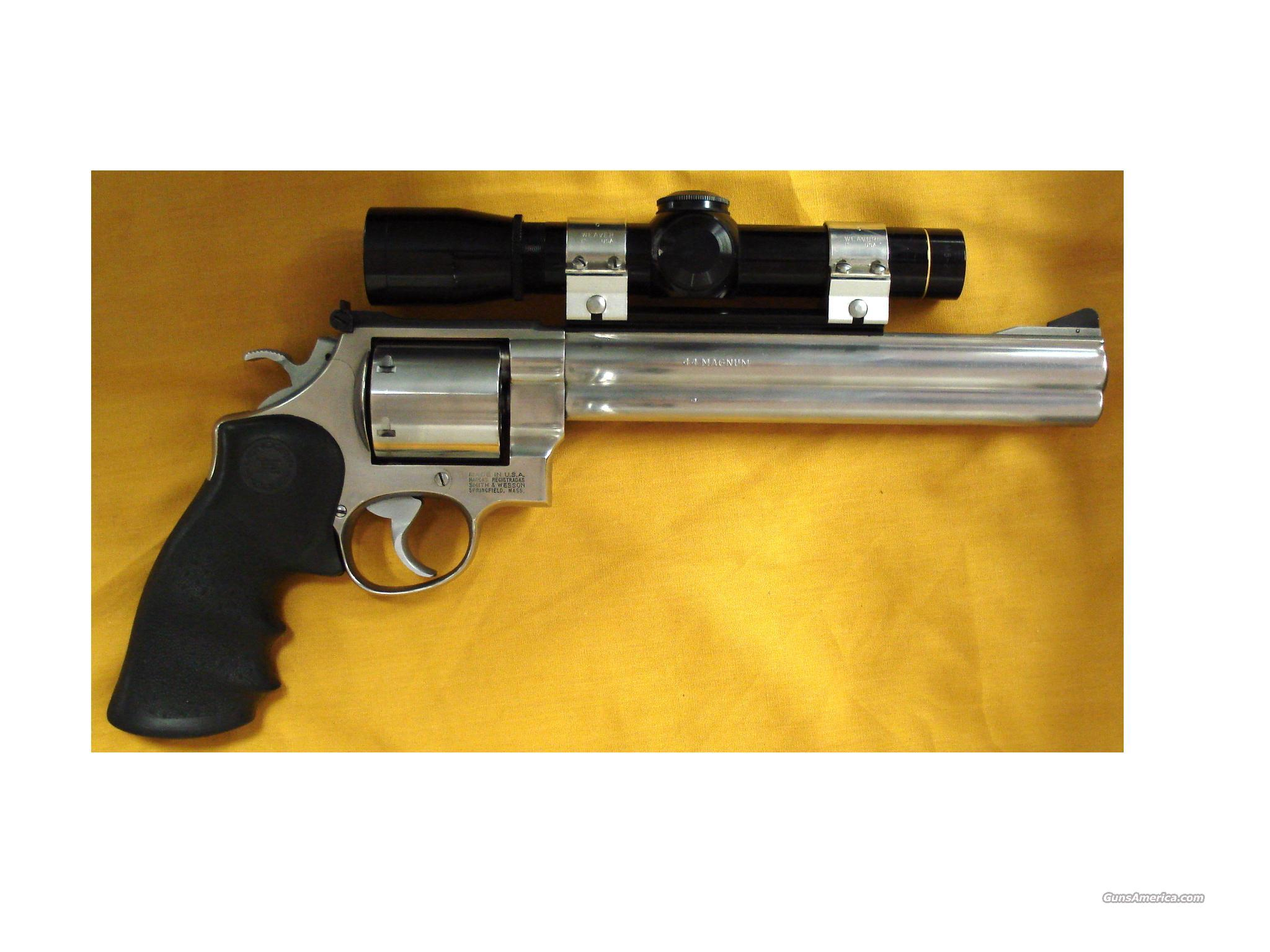 "S&W 629-2 .44MAG 8 1/4""BBL W/ LEUPOLD  Guns > Pistols > Smith & Wesson Revolvers > Model 629"