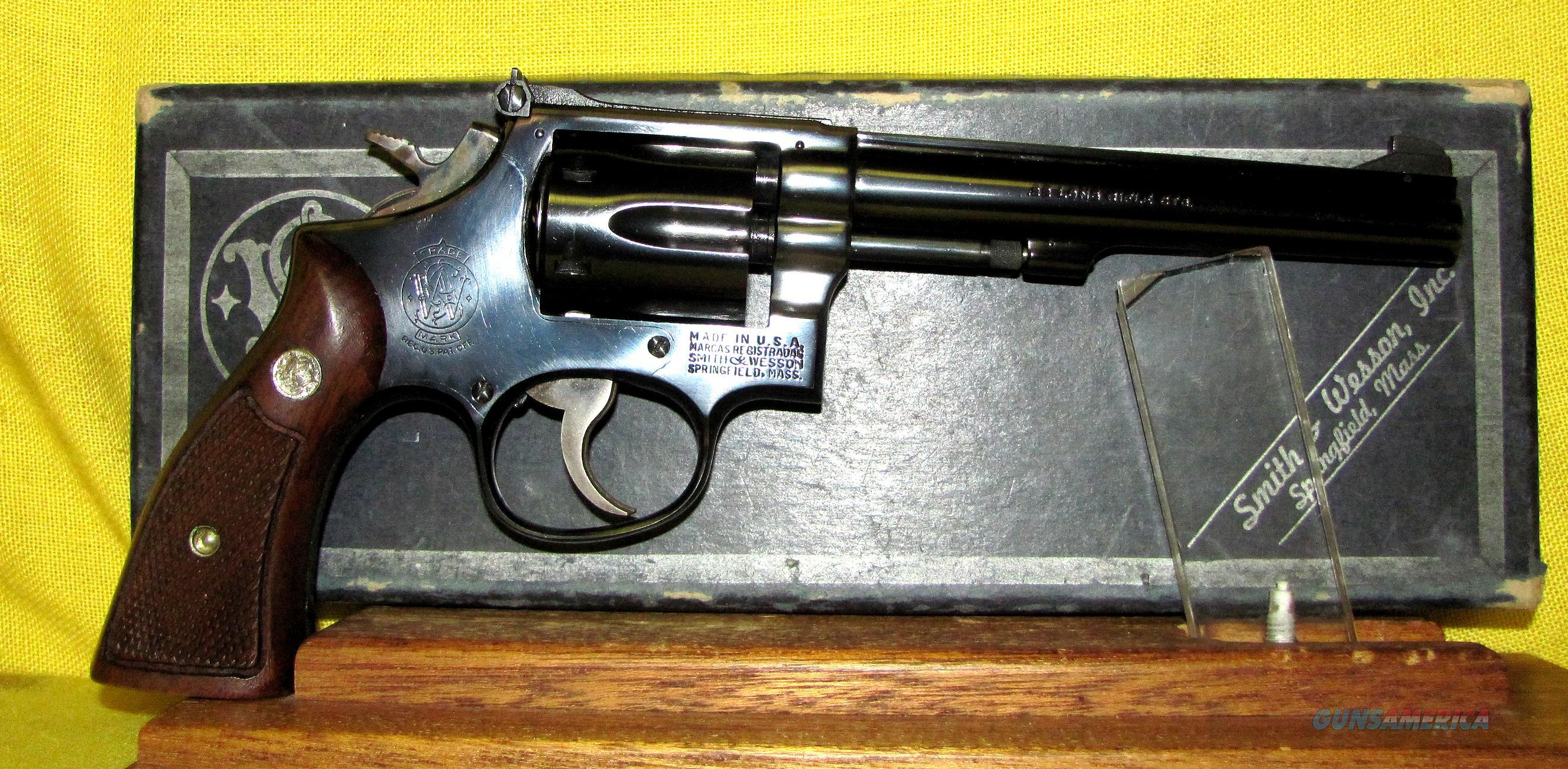 S&W (5 SCREW) PRE-17 (COMBAT MASTERPIECE)  Guns > Pistols > Smith & Wesson Revolvers > Med. Frame ( K/L )
