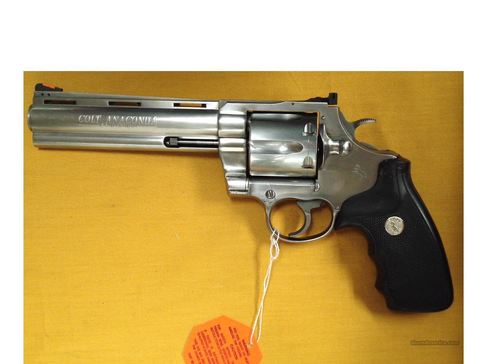 COLT ANACONDA BRUSHED STAINLESS .44 MAG  Guns > Pistols > Colt Double Action Revolvers- Modern