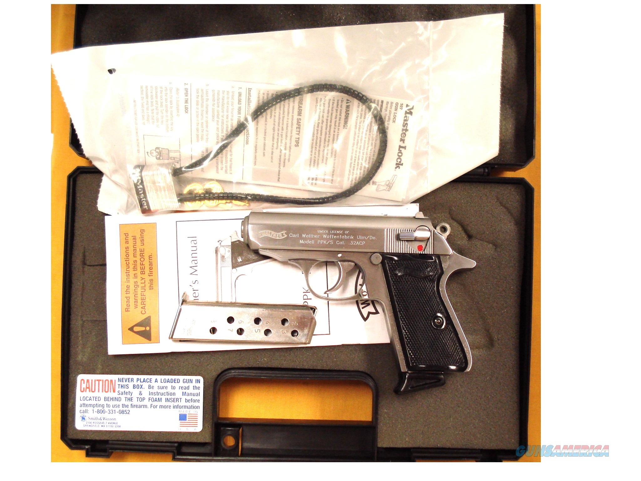 WALTHER PPK/S .32ACP  Guns > Pistols > Walther Pistols > Post WWII > PPK Series