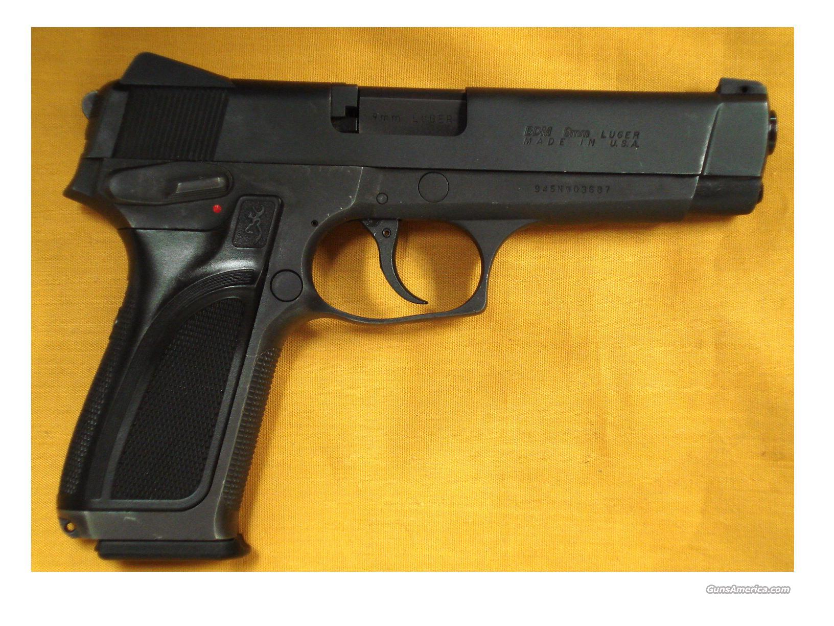 "BROWNING BDM 9MM 4 3/4"" BARREL  Guns > Pistols > Browning Pistols > Other Autos"