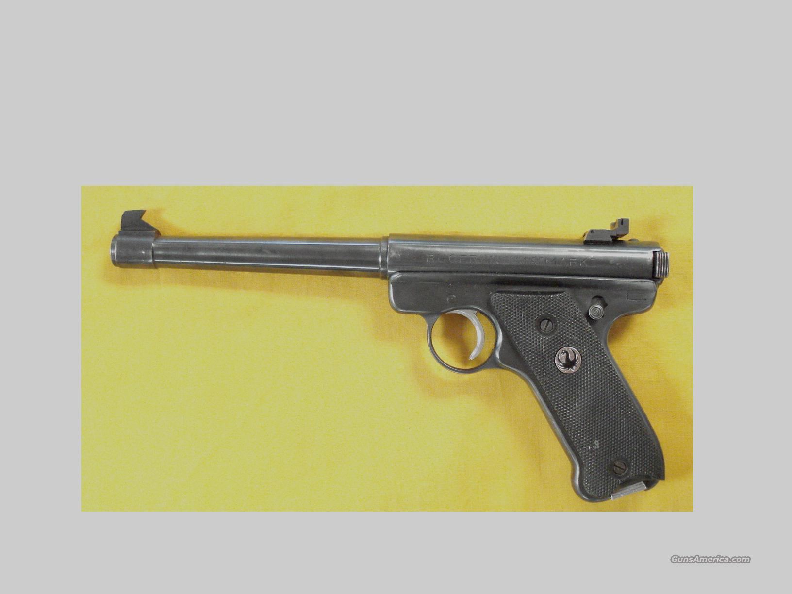 RUGER MK I HEAVY BARREL .22CAL  Guns > Pistols > Ruger Semi-Auto Pistols > Mark I & II Family