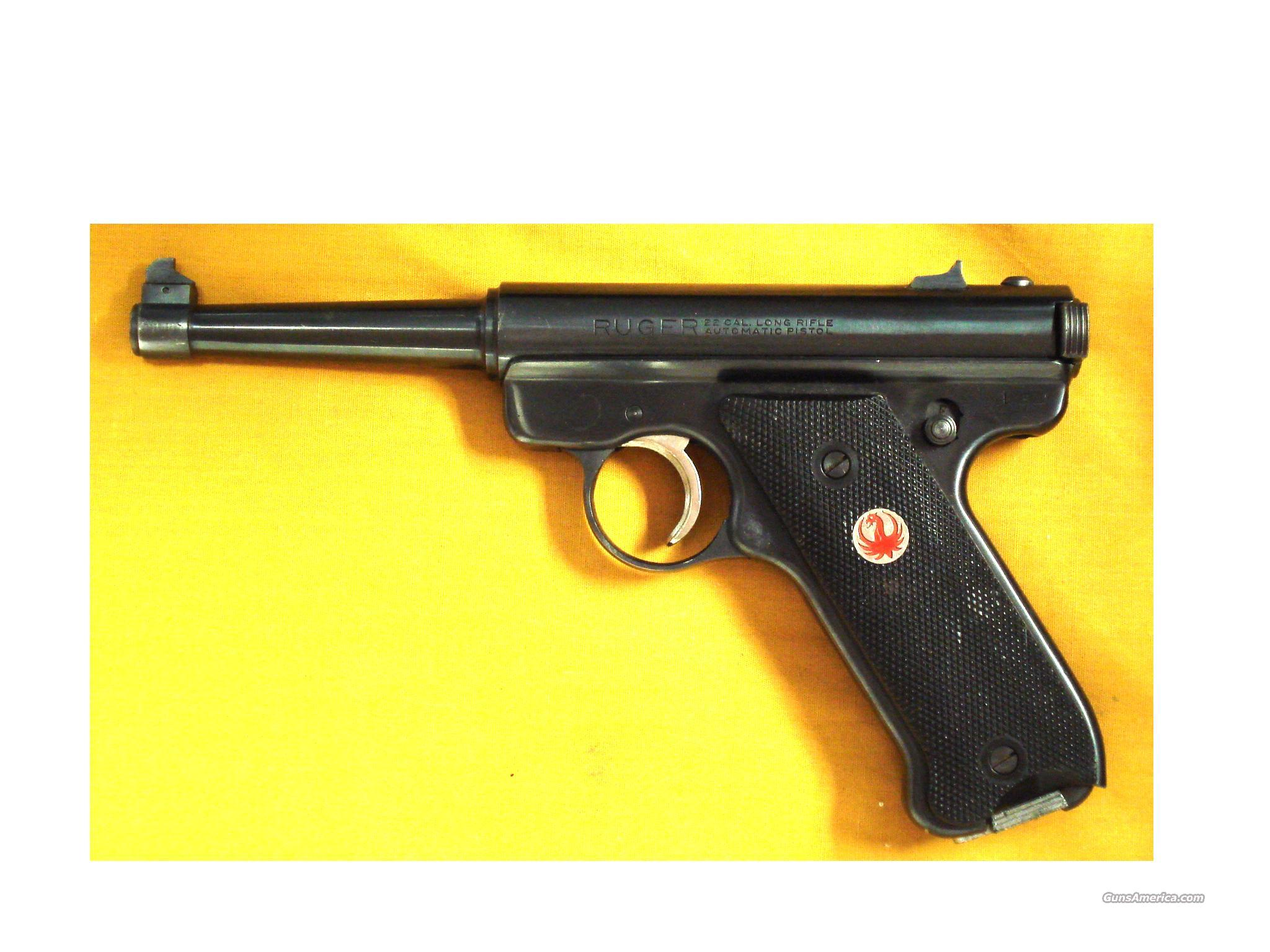 RUGER RST4 .22LR EARLY RED+SILVER  Guns > Pistols > Ruger Semi-Auto Pistols > Mark I & II Family