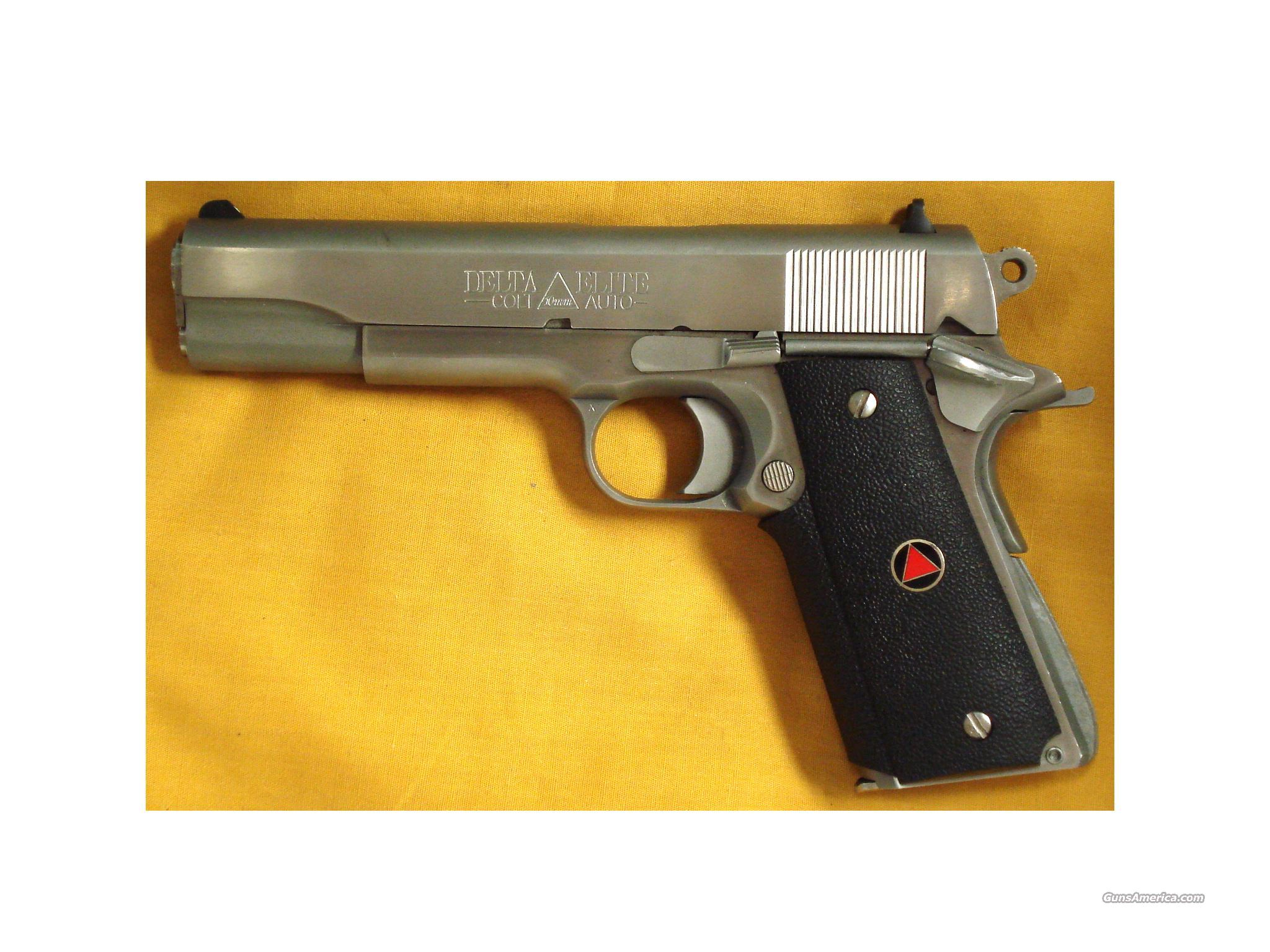 "COLE DELTA ELITE 10MM 5""BARREL  Guns > Pistols > Colt Automatic Pistols (1911 & Var)"