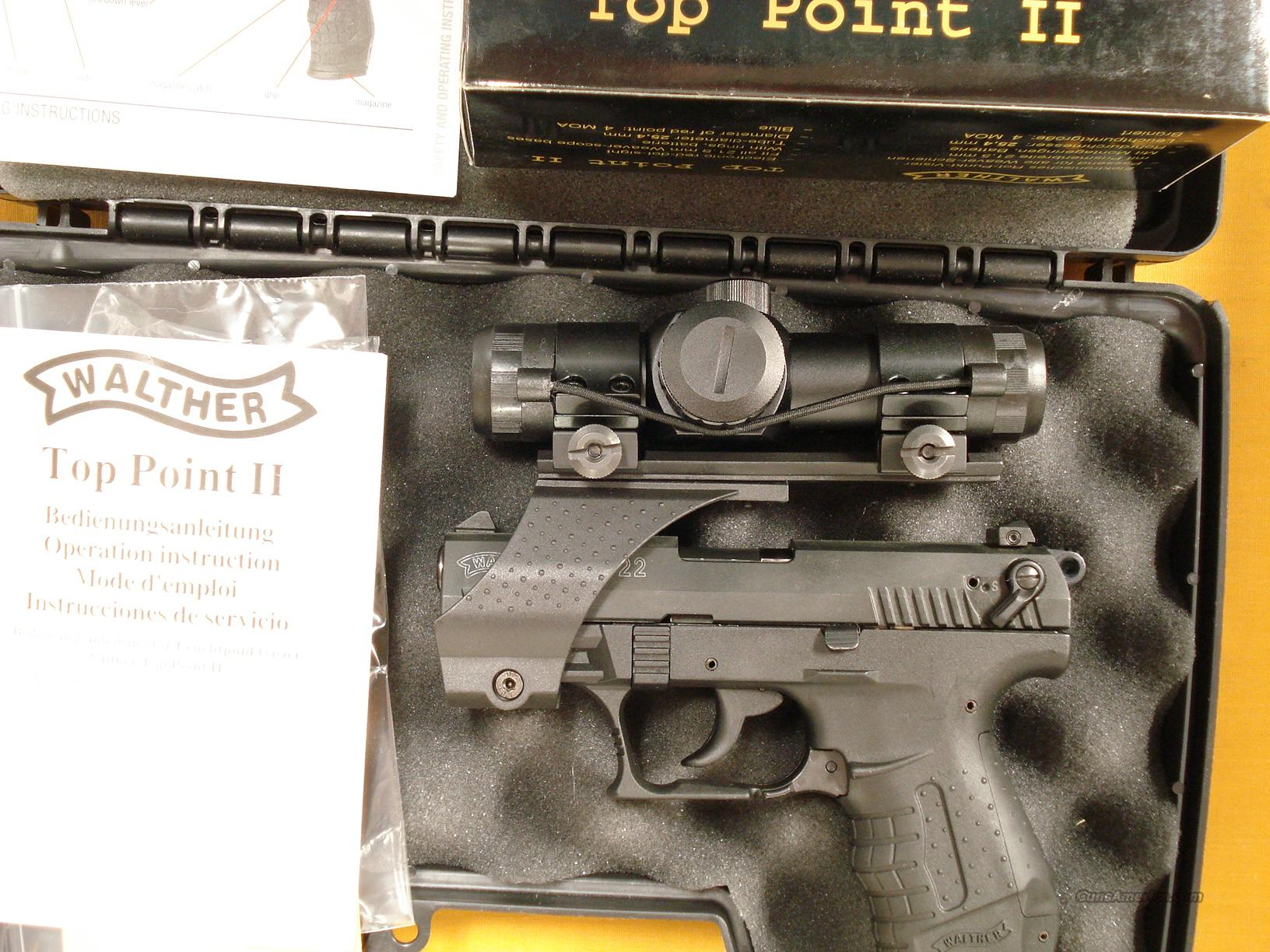 WALTHER P22 W/TOP POINT RED DOT SCOPE  Guns > Pistols > Walther Pistols > Post WWII > P22