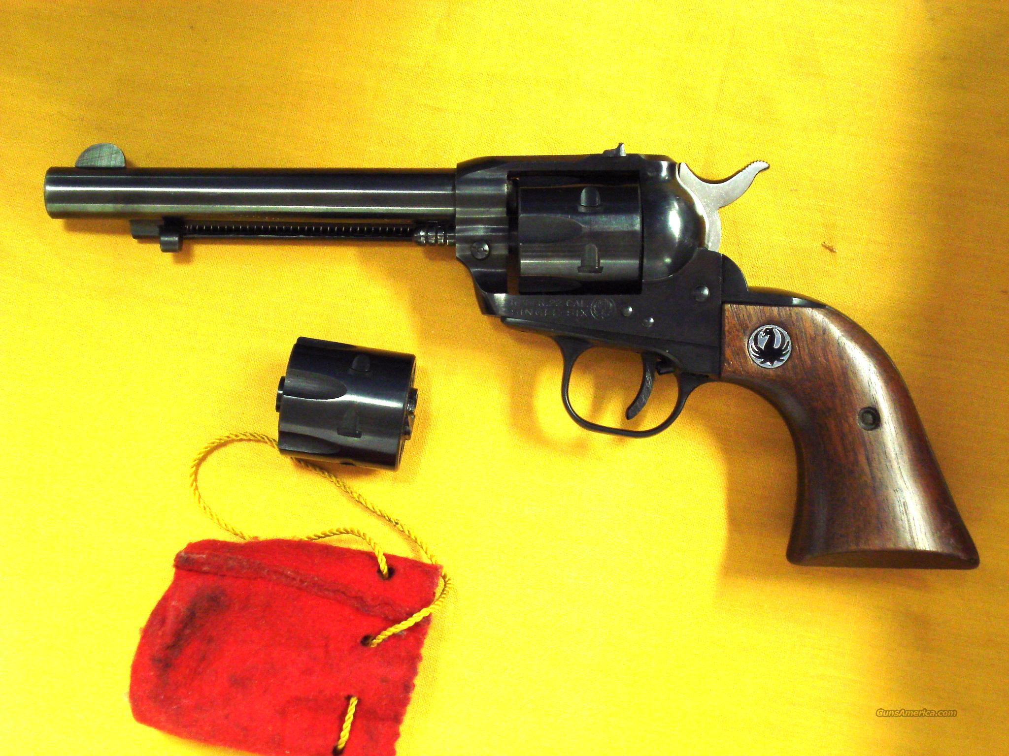 RUGER SINGLE 6 CONVERTIBLE .22/22MAG  Guns > Pistols > Ruger Single Action Revolvers > Single Six Type