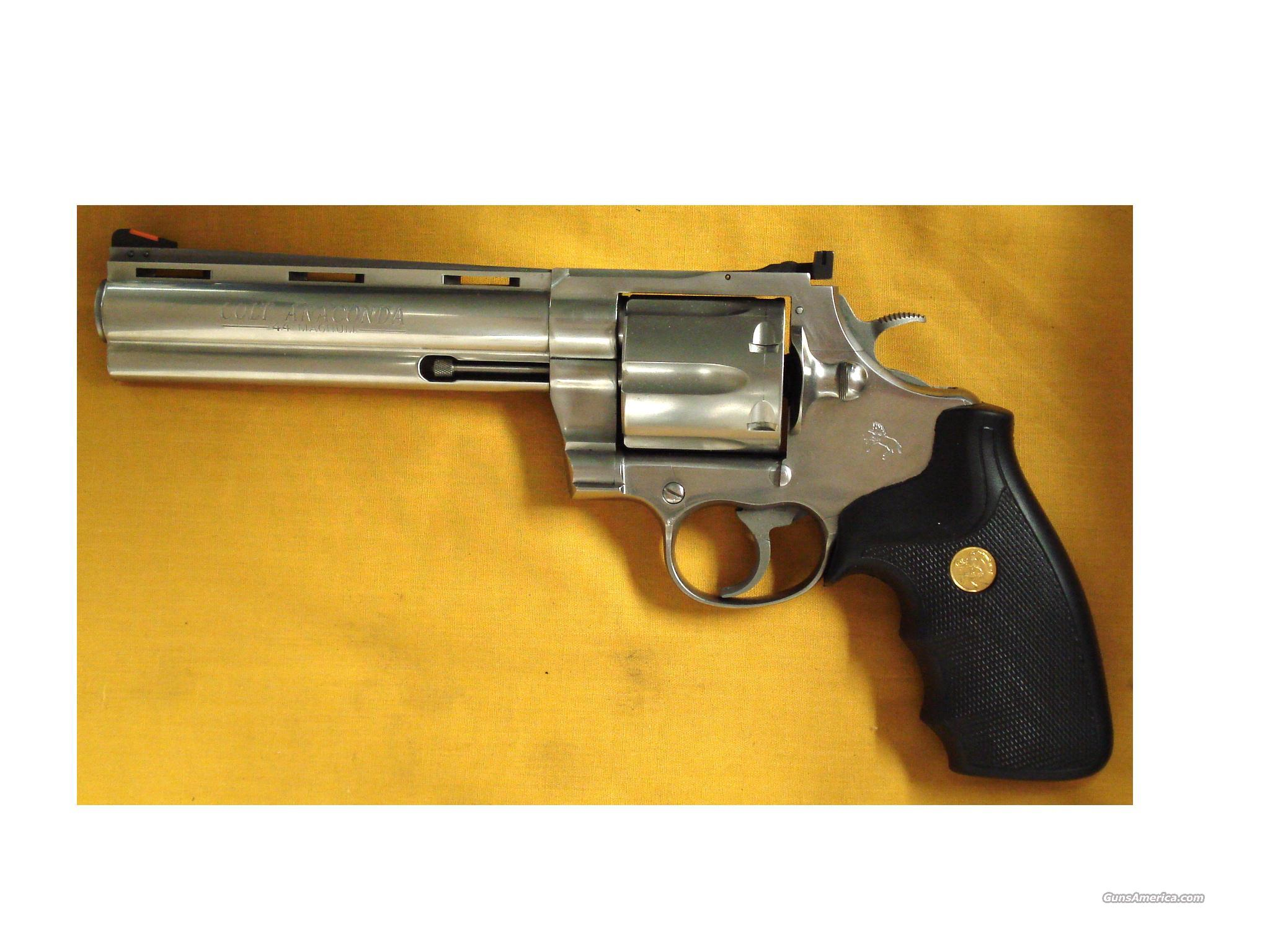 "COLT ANACONDA 6""BBL .44MAGN W/ SCOPE  Guns > Pistols > Colt Double Action Revolvers- Modern"