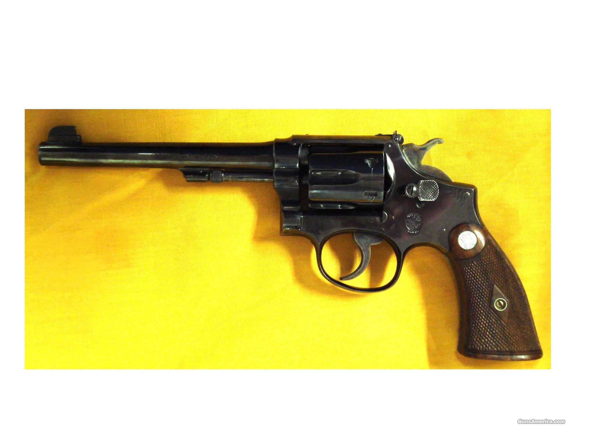 S&W K22 OUTDOORSMAN EARLY TARGET  Guns > Pistols > Smith & Wesson Revolvers > Pre-1945