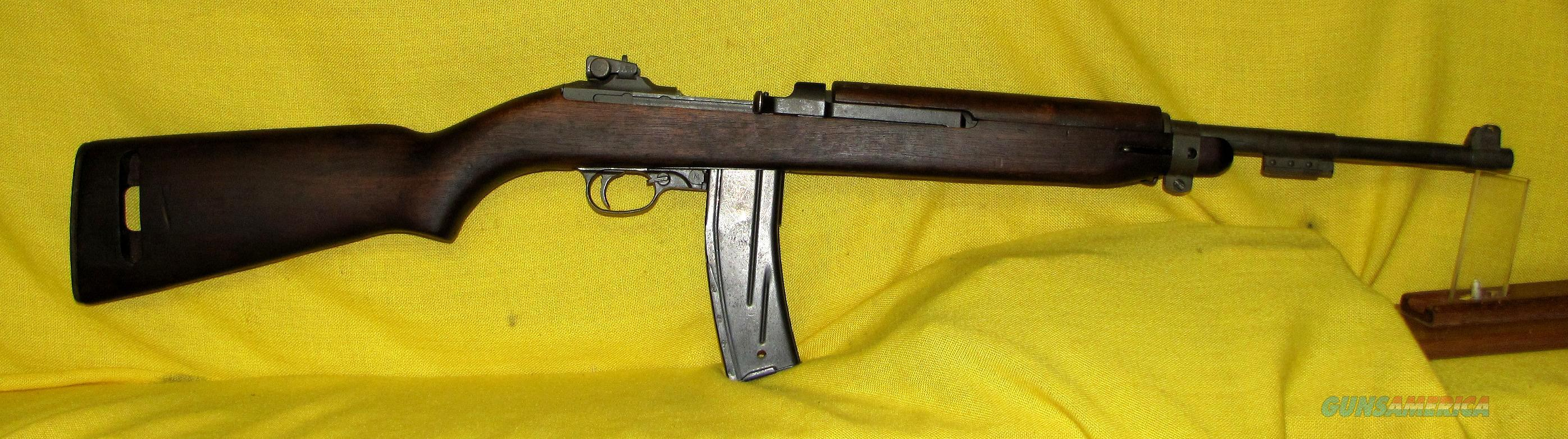 US M1 CARBINE BY INLAND .30 CARBINE 8-44 DATED BBL  Guns > Rifles > Military Misc. Rifles US > M1 Carbine