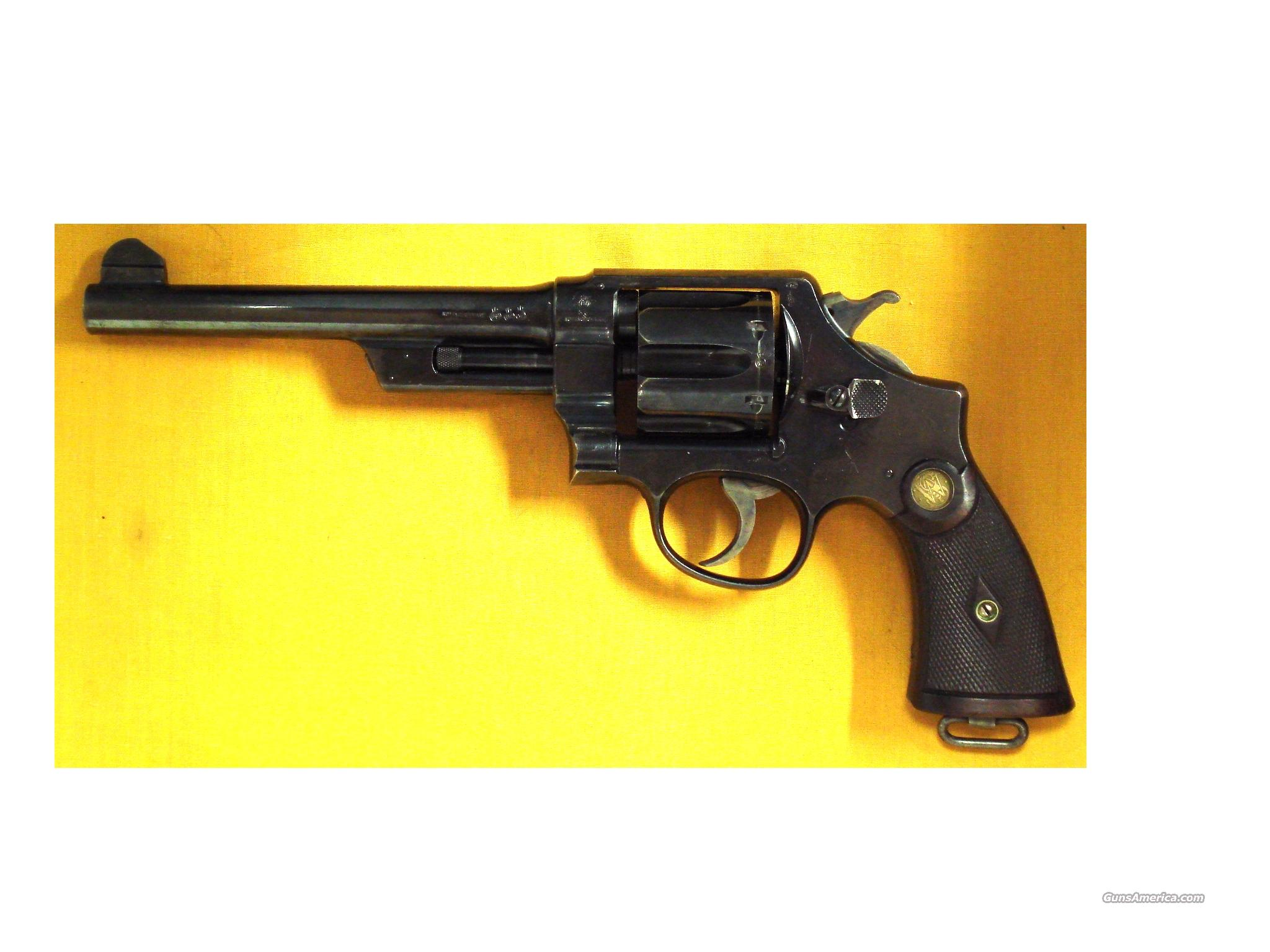 "S&W 455 MKII .45AUTO RIM 6 1/2""BBL BRITISH  Guns > Pistols > Smith & Wesson Revolvers > Pre-1945"
