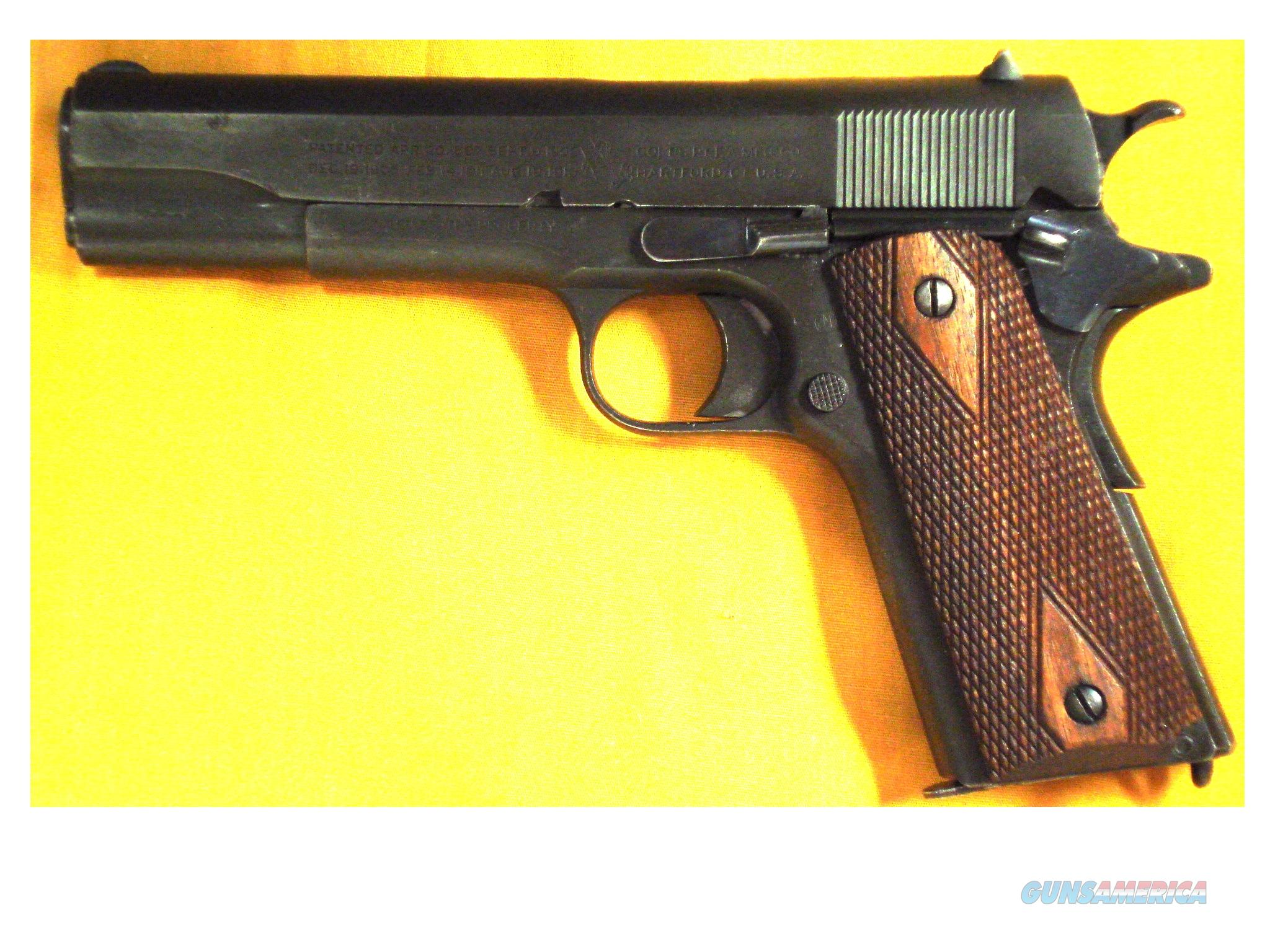 "COLT 1911 WWI .45ACP 5"" BARREL  Guns > Pistols > Military Misc. Pistols US > 1911 Pattern"