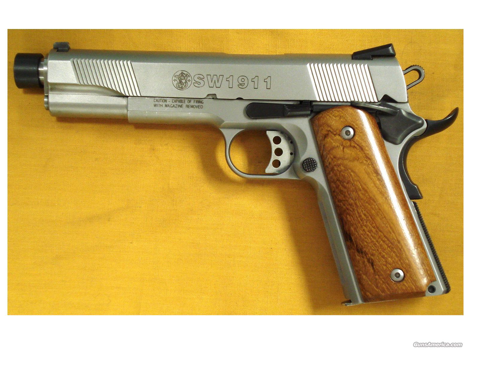 "S&W 1911 .45 5 1/2"" THREADED BBL  Guns > Pistols > Smith & Wesson Pistols - Autos > Steel Frame"