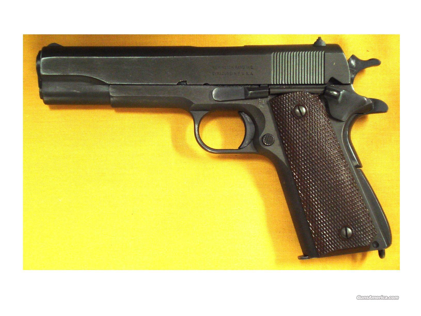 "1911A1 REMINGTON RAND WWII .45 5""BBL  Guns > Pistols > Military Misc. Pistols US > 1911 Pattern"